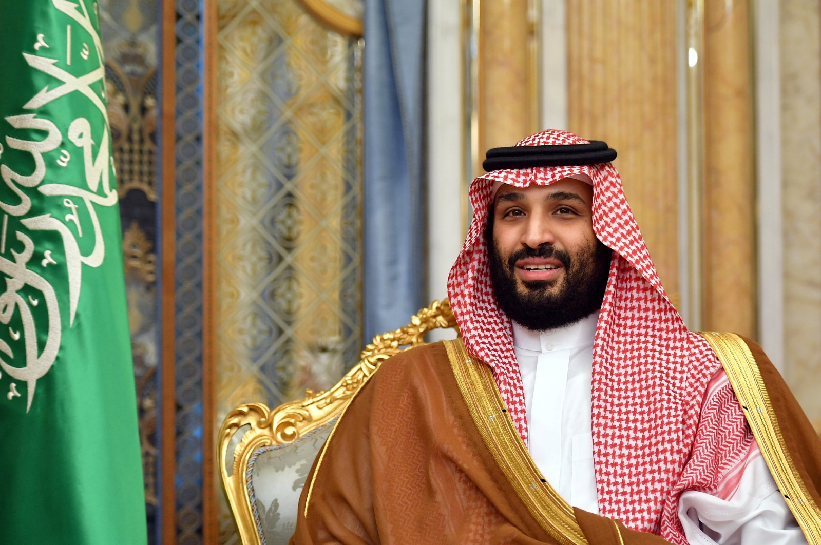 Saudi Arabia's Crown Prince Mohammed bin Salman attends a meeting with former U.S. Secretary of State Mike Pompeo in Jeddah, Saudi Arabia, Sept.18, 2019. (Reuters Photo)