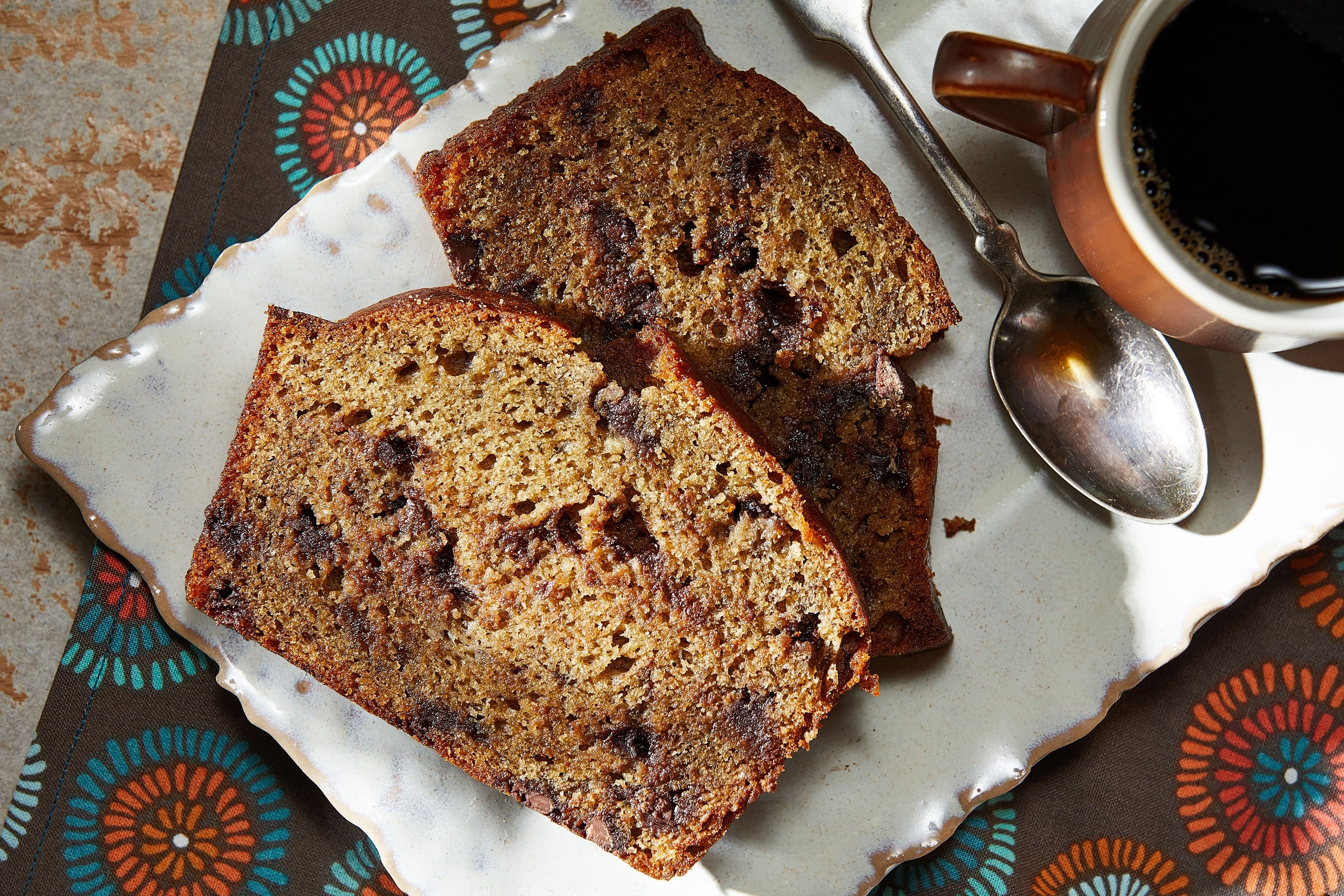 Try coffee-spiked banana bread when the plain version doesn't cut it anymore. (via Getty Images)