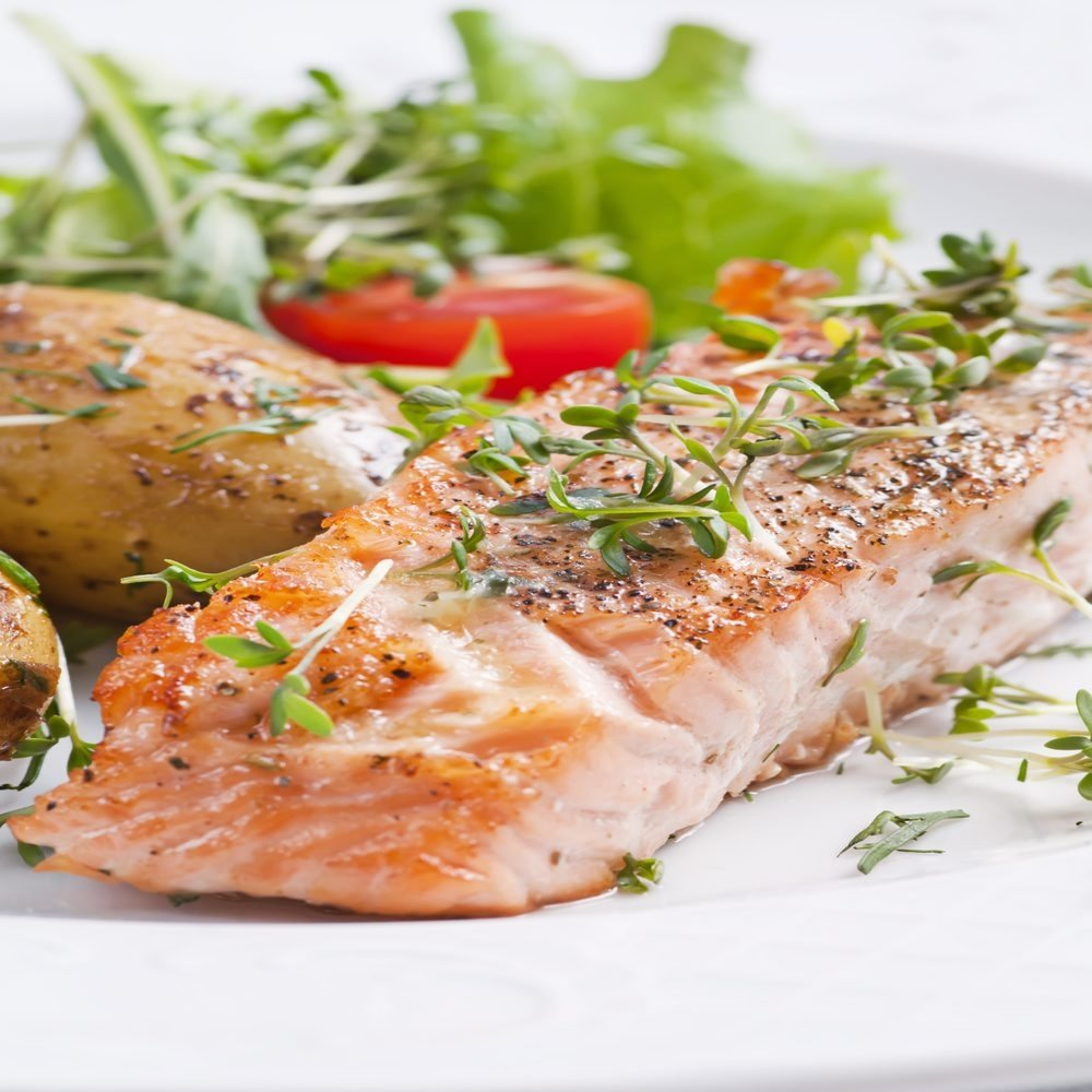 Adding herbs to the salmon, such as dill, will make it more interesting in the flavor department. (Getty Images)