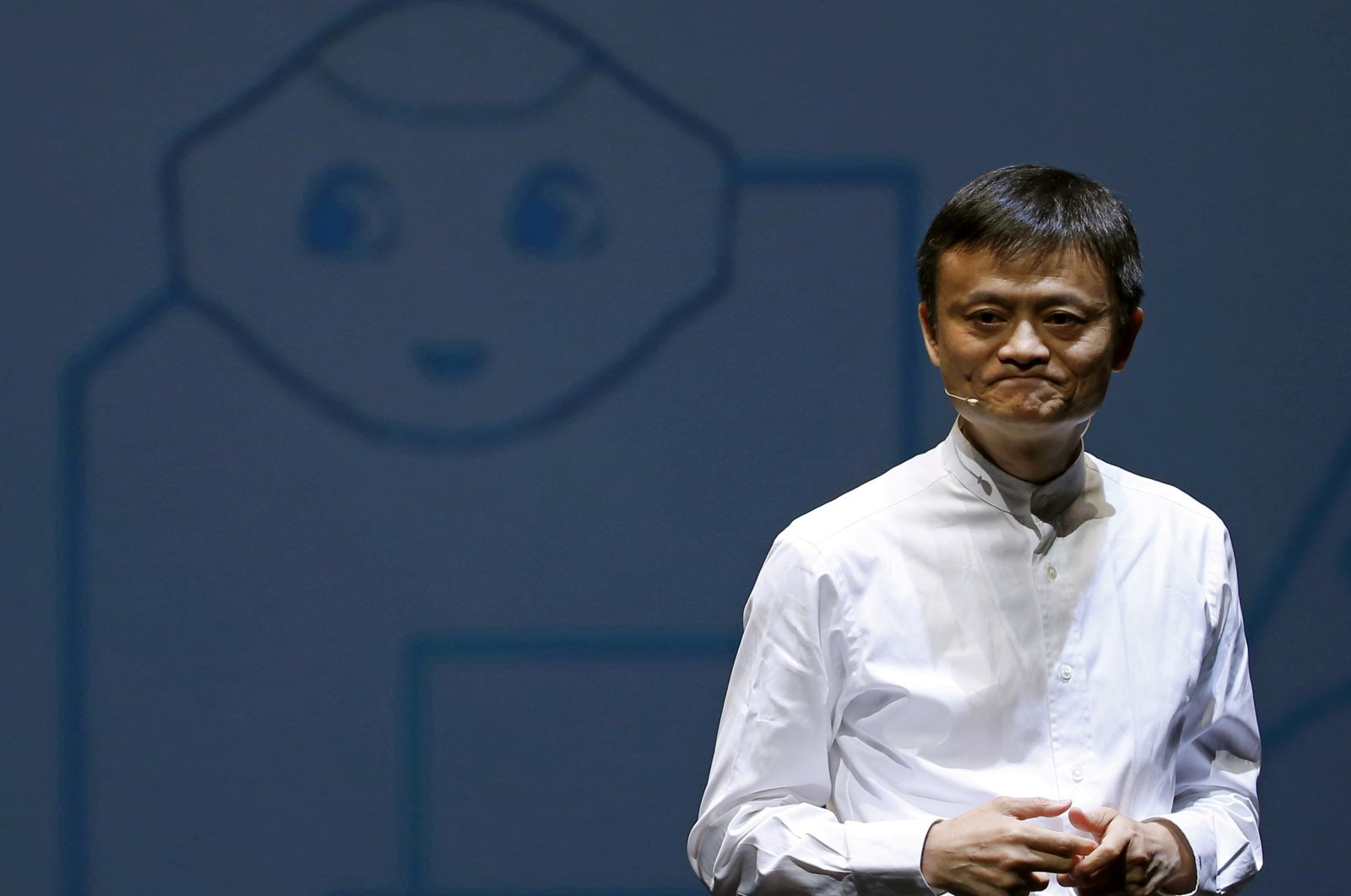 Jack Ma, founder and executive chairman of China's Alibaba Group, speaks during a news conference in Chiba, Japan, June 18, 2015. (Reuters Photo)