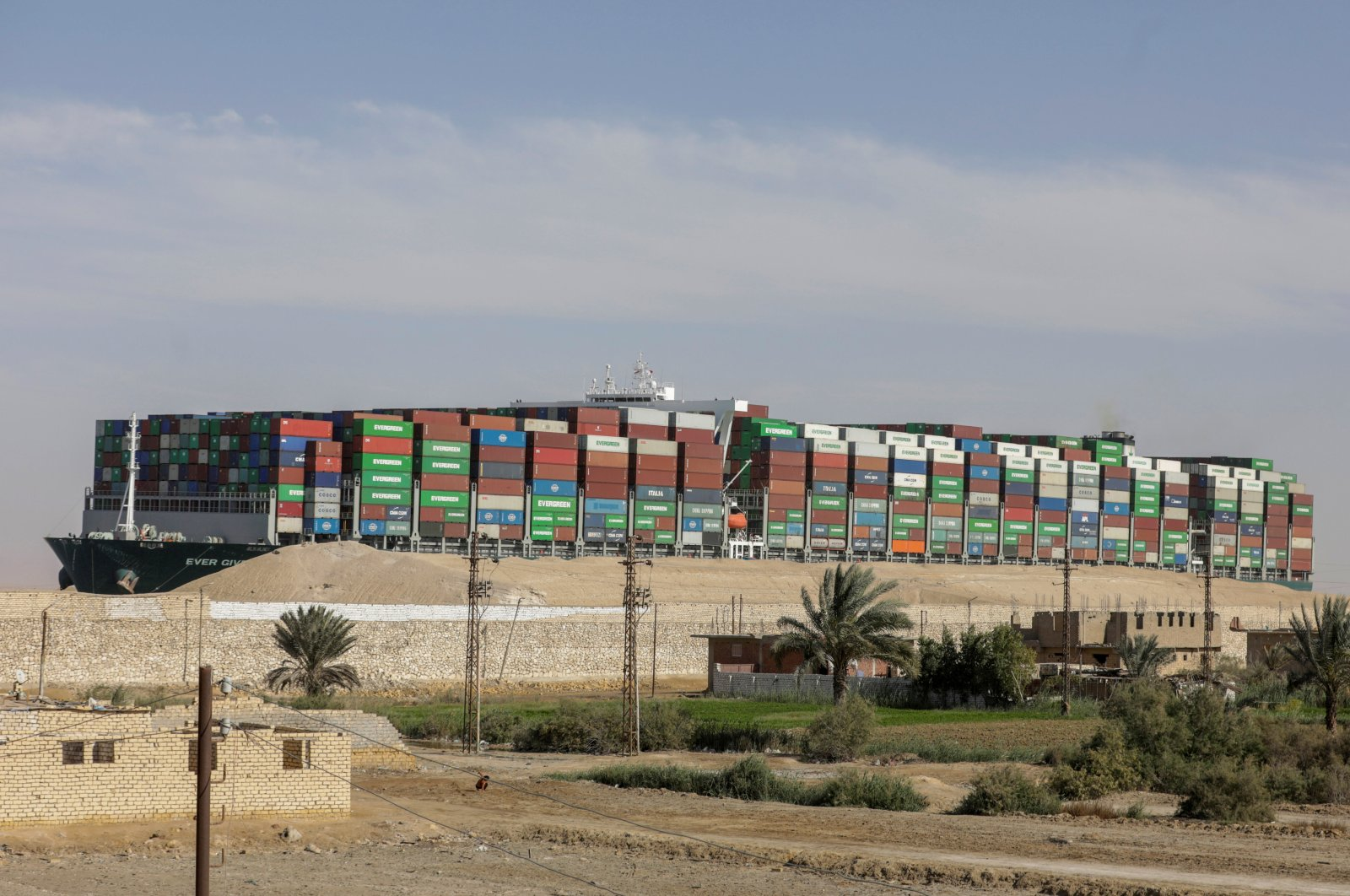 Ever Given, one of the world's largest container ships, is seen after it was fully floated in the Suez Canal, Egypt, March 29, 2021. (Reuters File Photo)