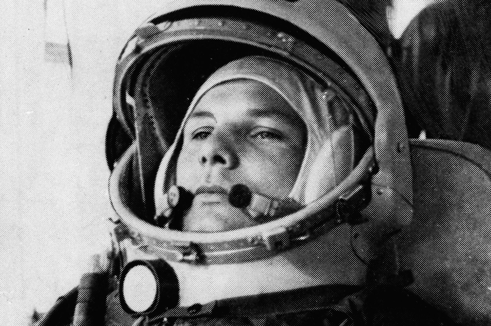 In this undated file photo, Soviet cosmonaut Maj. Yuri Gagarin, the first man to orbit the earth, is shown in his space suit. (AP Photo)