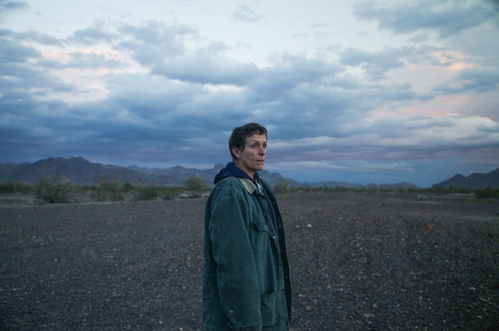 """A still shot shows Frances McDormand in a scene from """"Nomadland."""""""