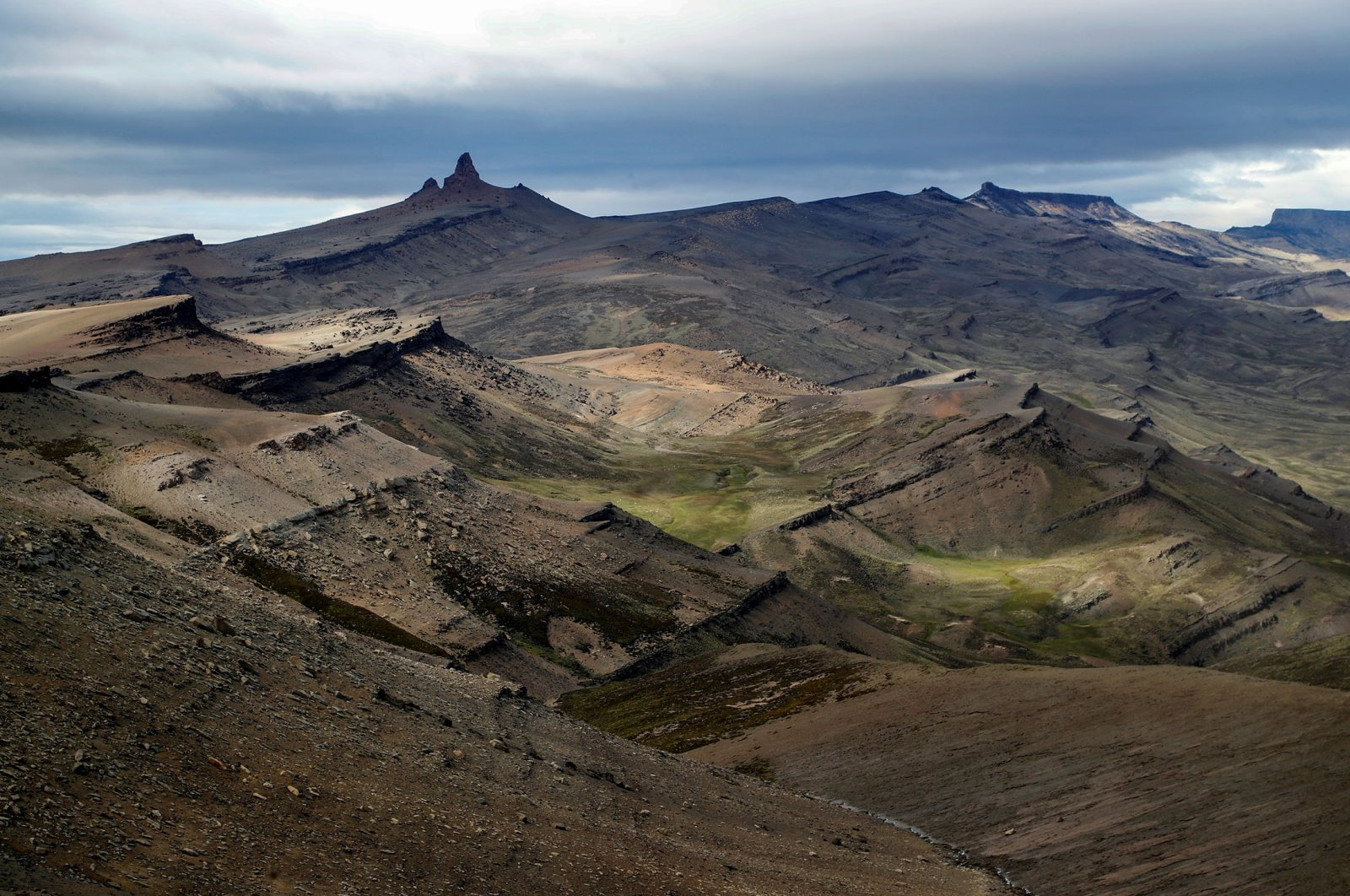 A general view of the Valley of Las Chinas, in the Chilean Patagonia, Chile, Feb. 25, 2020. (Chilean Antarctic Institute via REUTERS)