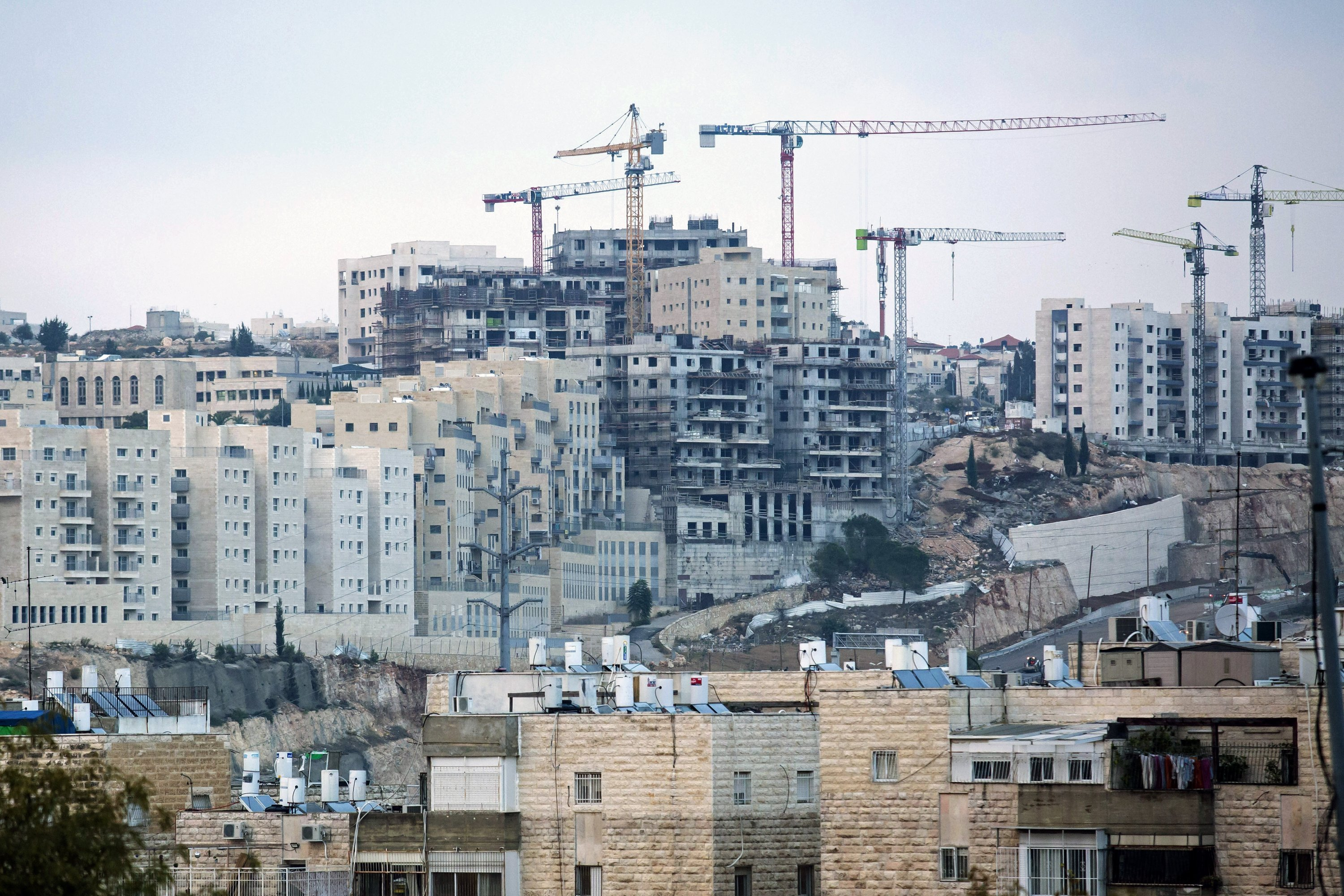A general view of a part of Israel's illegal settlements of Ramat Shlomo, Israeli-occupied East Jerusalem, Nov. 16, 2020. (Photo by Getty Images)