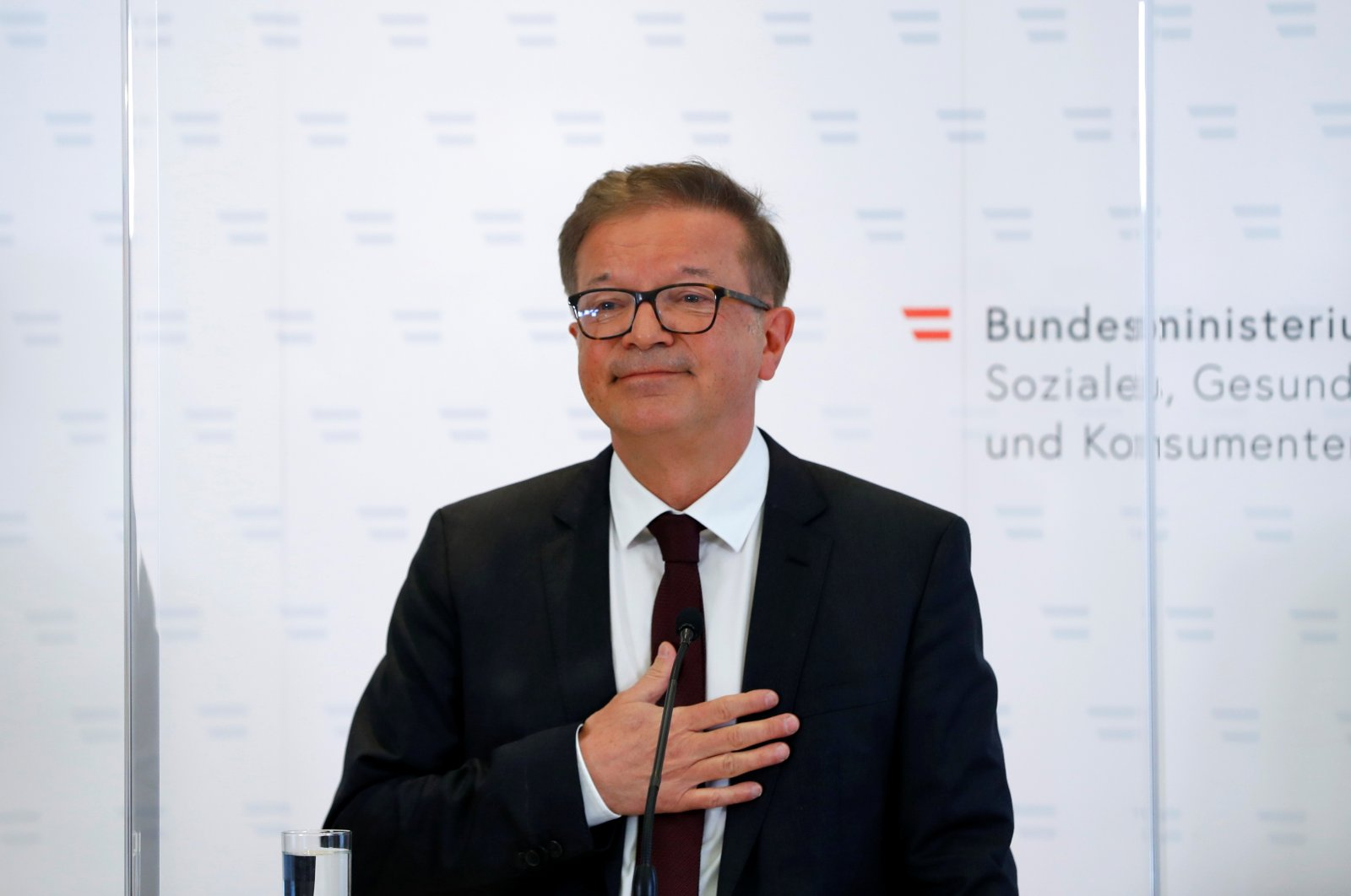 Austrian Health Minister Rudolf Anschober attends a news conference in Vienna, Austria, April 13, 2021. (Reuters Photo)