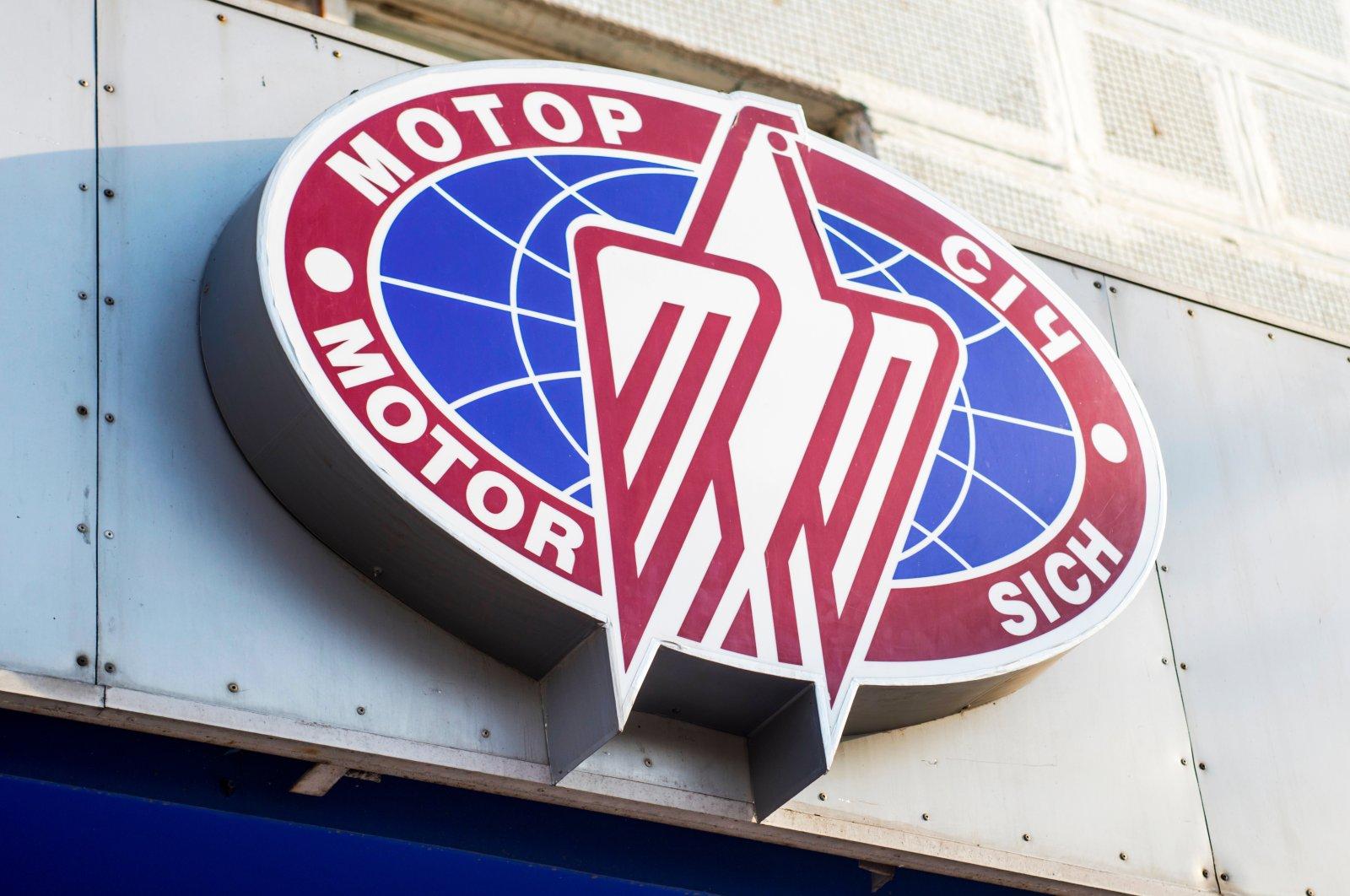 The Motor Sich logo is seen on a company building, Zaporozhye, Ukraine,  Feb. 2, 2021. (Shutterstock Photo)