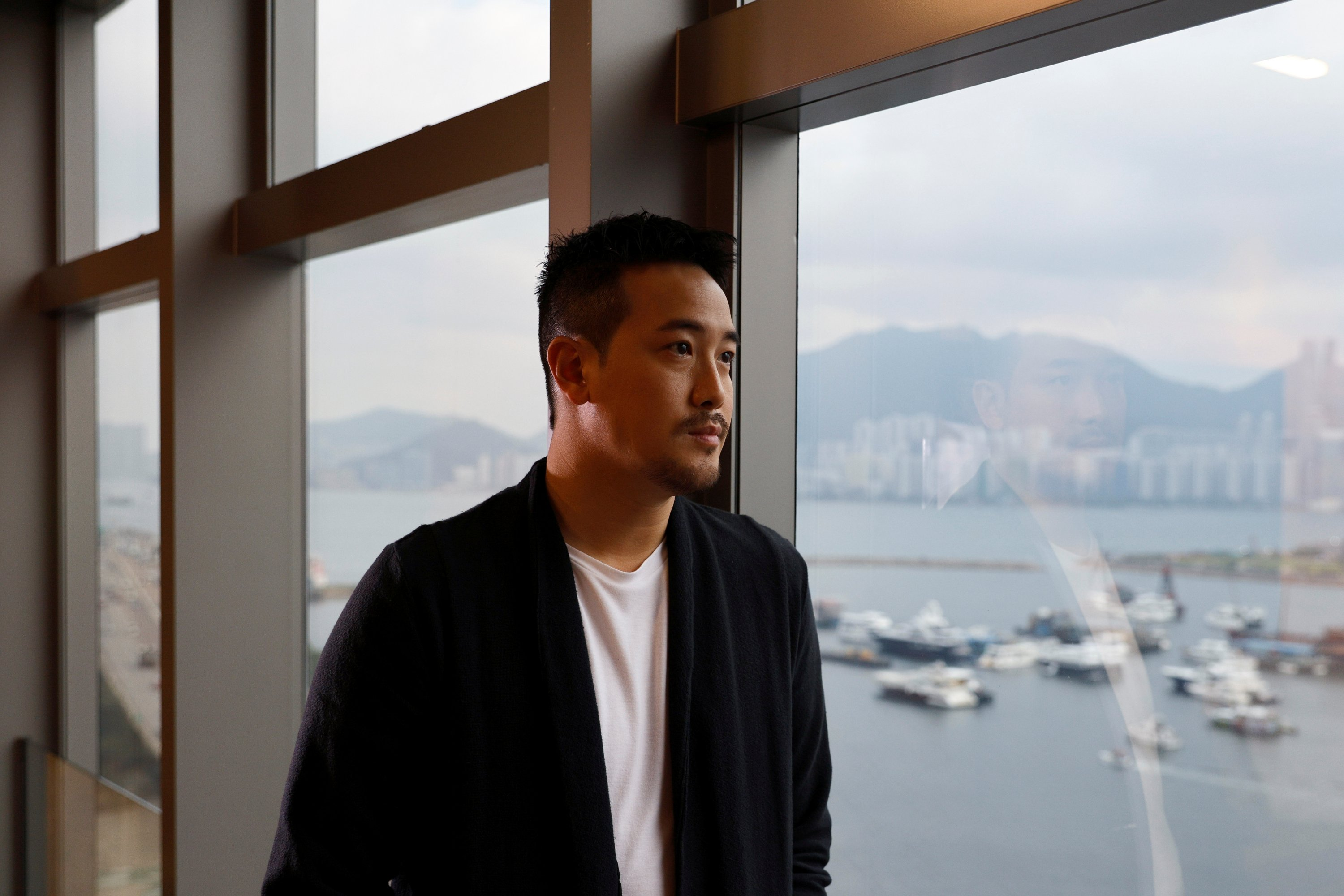 Derek Tsang, director of 'Better Days,' poses after an interview with Reuters, in Hong Kong, China, April 9, 2021. (REUTERS Photo)