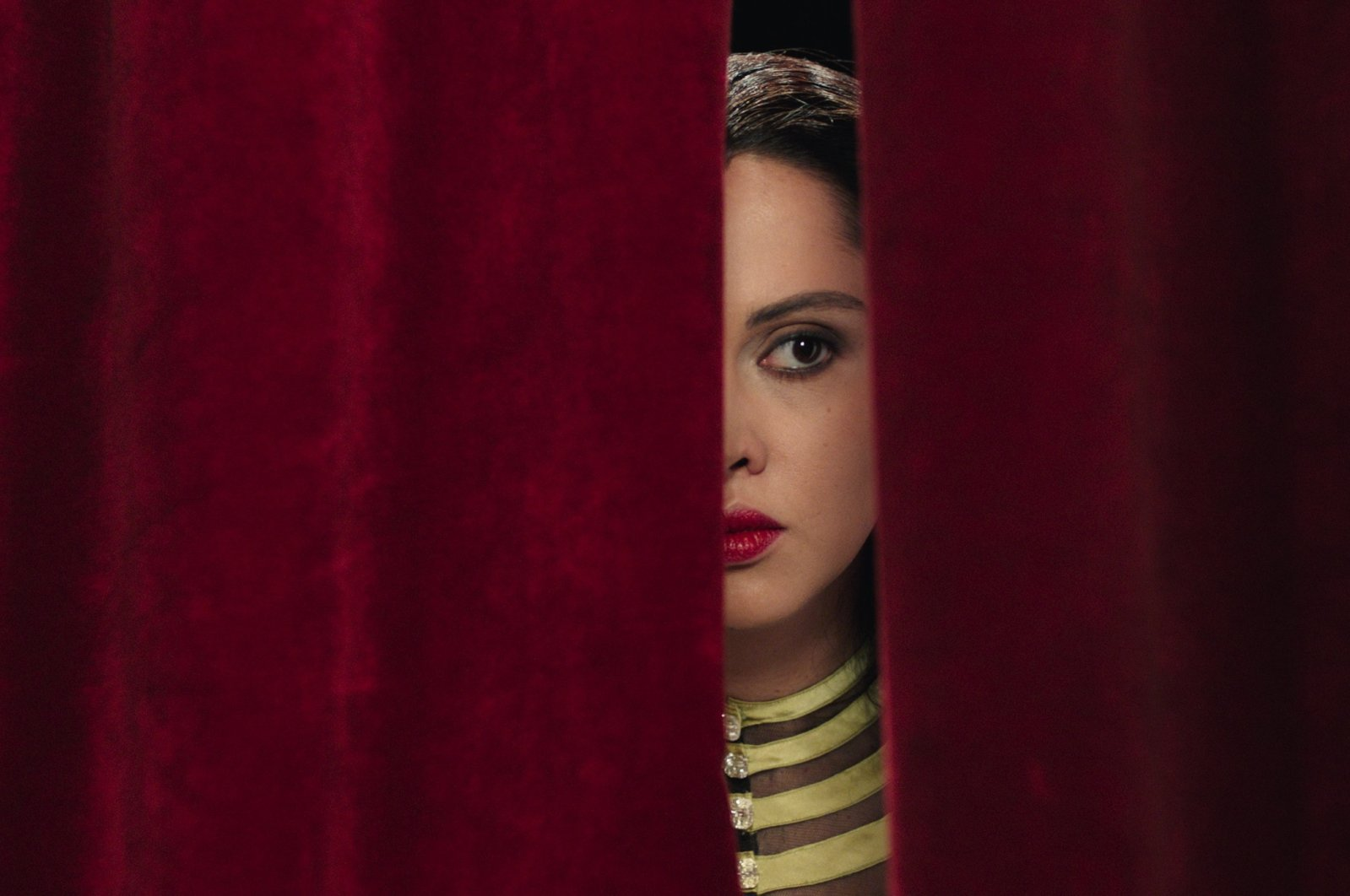 """A still shot from Shirin Neshat's 2017 drama """"Looking for Oum Kulthum."""" (Courtesy of Istanbul Modern)"""