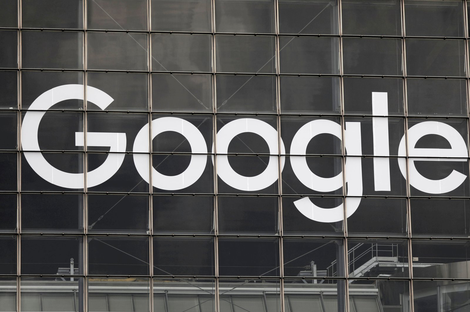 The Google logo on a building in the La Defense business and financial district of Courbevoie near Paris, France, Sept. 1, 2020.  (Reuters Photo)