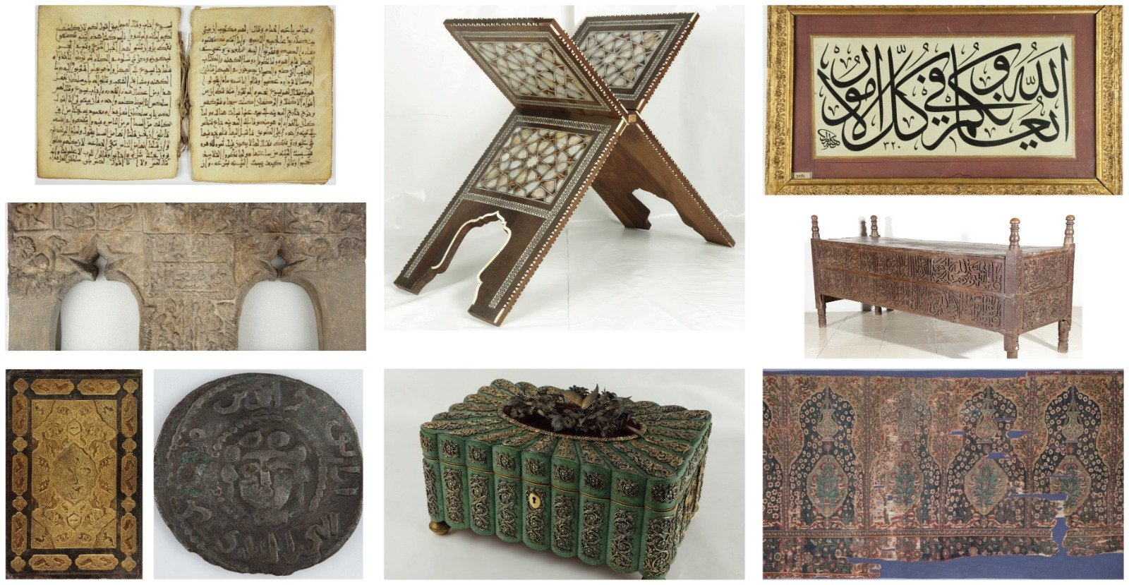 "A combination of some works to be on display at the ""Faith and Art"" exhibition in the Museum of Turkish and Islamic Arts, Istanbul, Turkey. (Courtesy of Ministry of Culture and Tourism)"