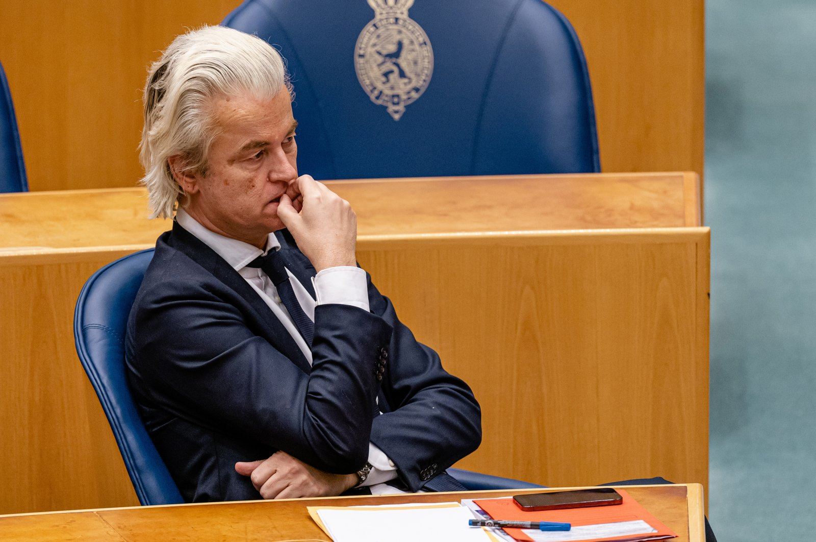 Far-right Dutch politician Geert Wilders during a plenary debate in The Hague, the Netherlands, Jan. 19, 2021. (Photo by Getty Images)