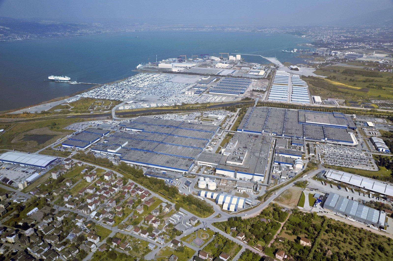 The Ford Otosan plant is seen in this aerial photo, Gölcük, Kocaeli, northwestern, Turkey, Dec. 5, 2020. (Photo courtesy of Ford Otosan)