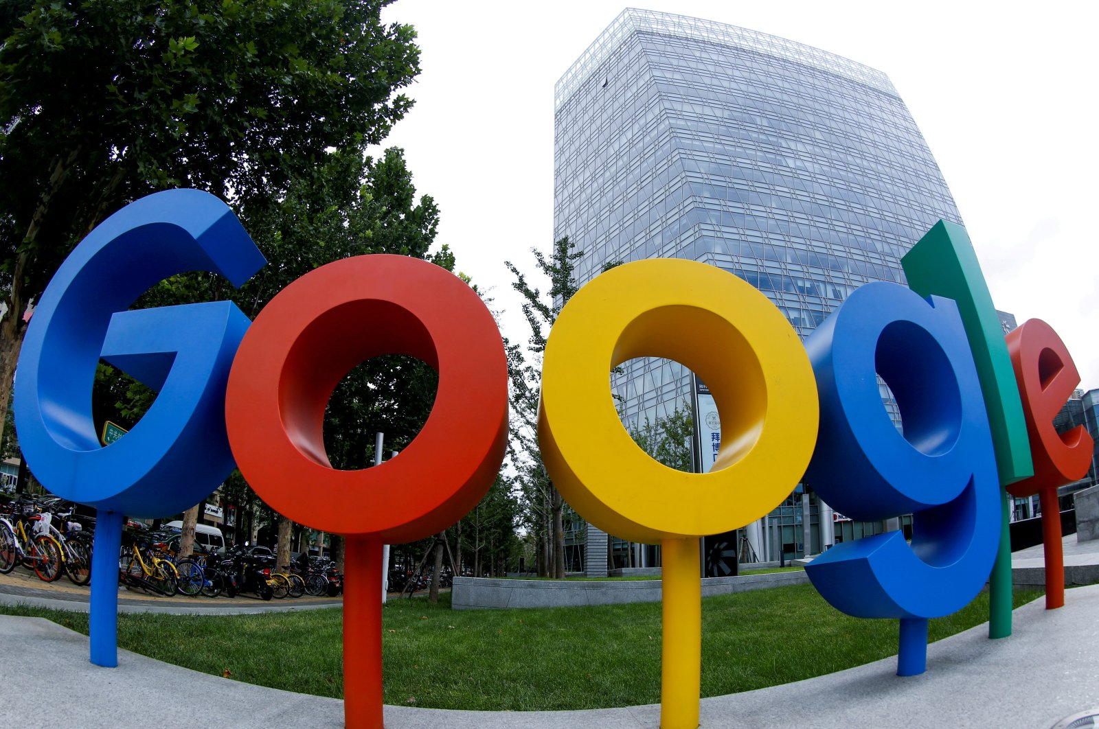 The brand logo of Alphabet Inc's Google is seen outside its office in Beijing, China, Aug. 8, 2018. (Reuters Photo)