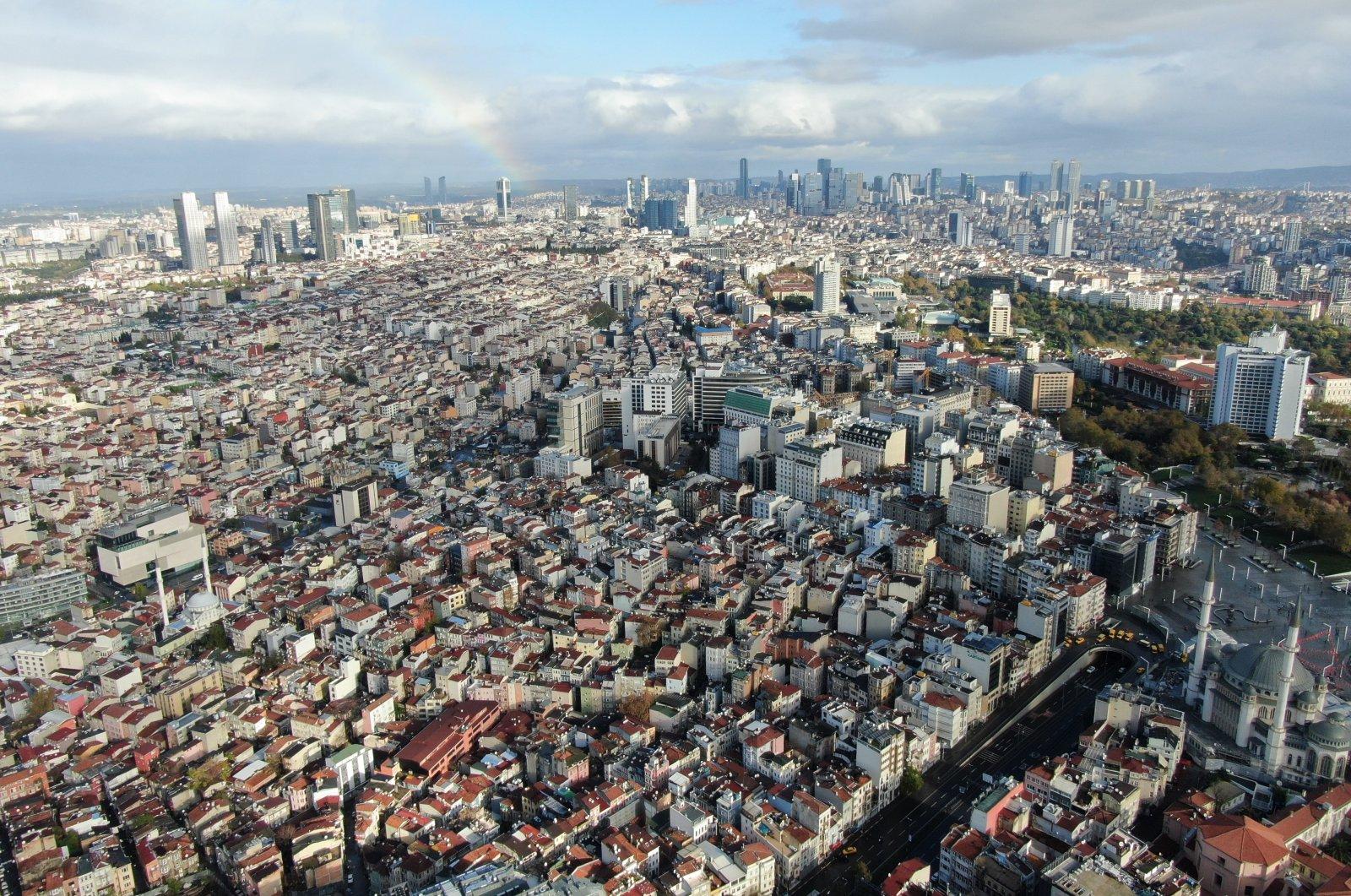 Istanbul's European side amid the COVID-19 outbreak, Istanbul, Turkey, Nov. 22, 2020. (IHA Photo)