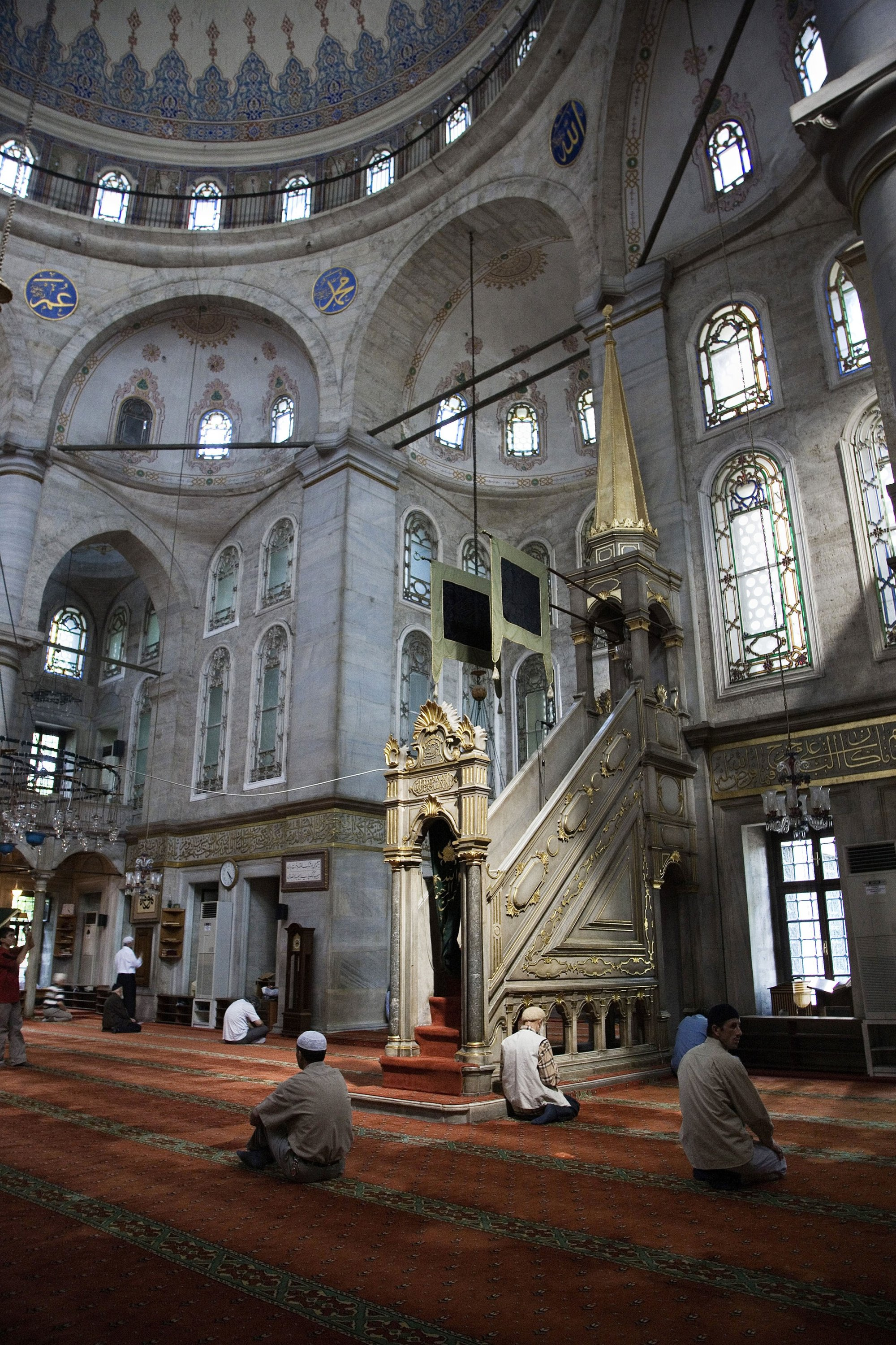 The interior of the Eyüp Sultan Mosque. (Universal Images Group via Getty Images)