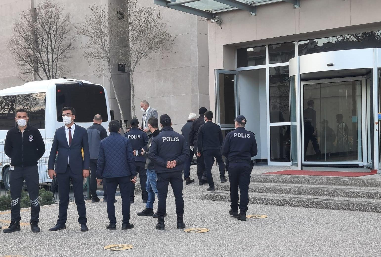 The Ankara Chief Public Prosecutor's Office summoned seven suspects for testimony on the ongoing investigation regarding the declaration signed by 104 retired navy admirals, Apr. 16, 2021. (DHA Photo)
