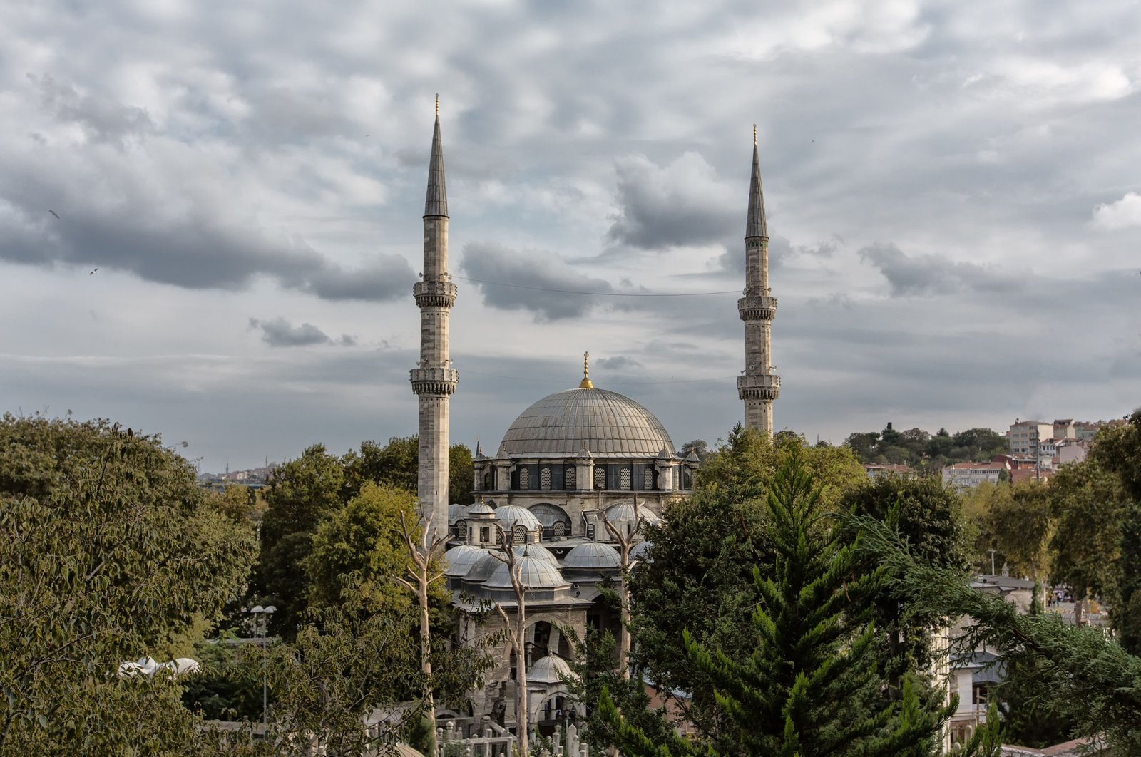 The Eyüp Sultan Mosque sits outside the historic city walls of Istanbul near the Golden Horn. (Shutterstock Photo)