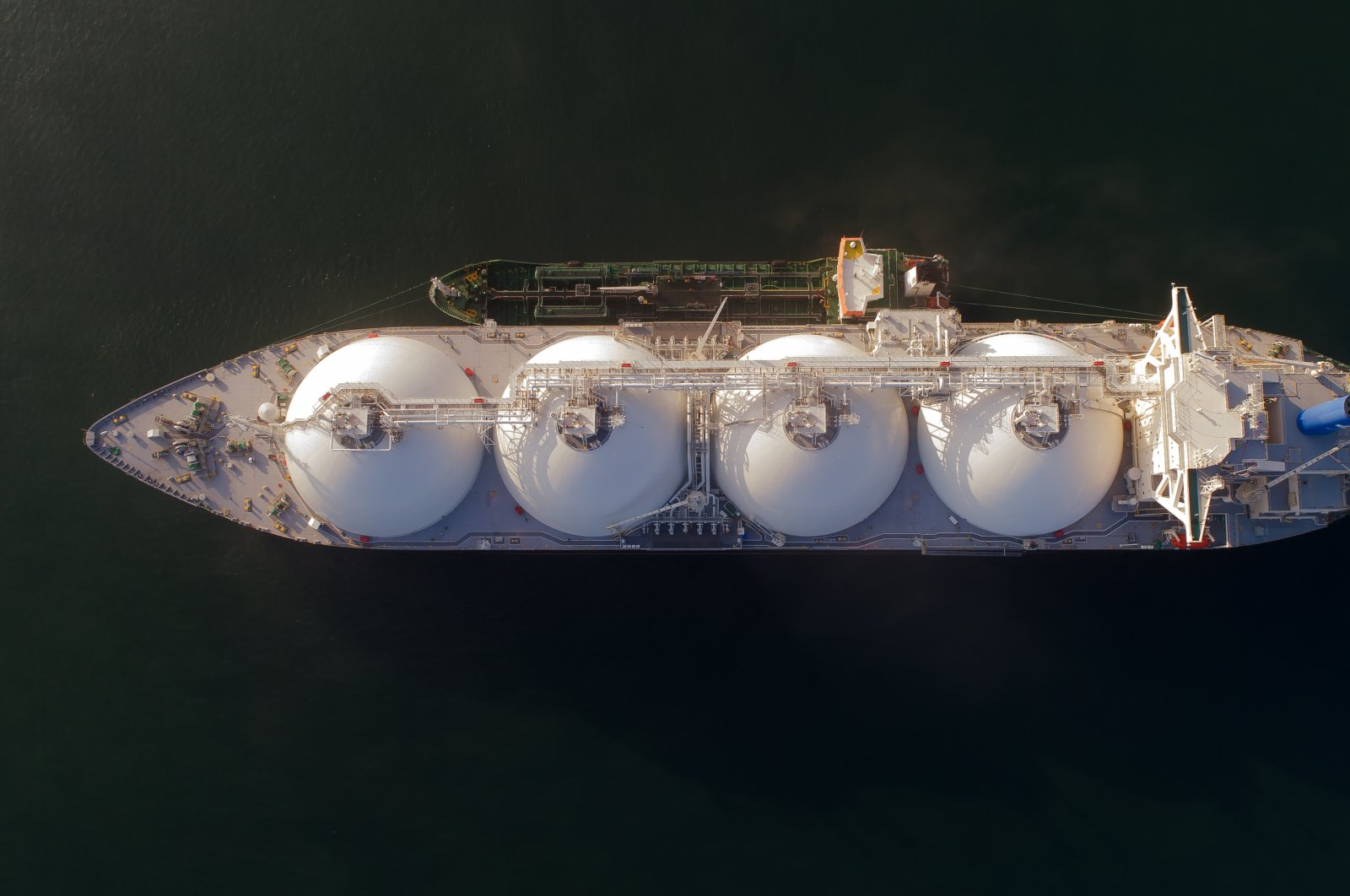 A bunkering LNG tanker is anchored near Nakhodka, Russia, July 28, 2017. (Shutterstock Photo)