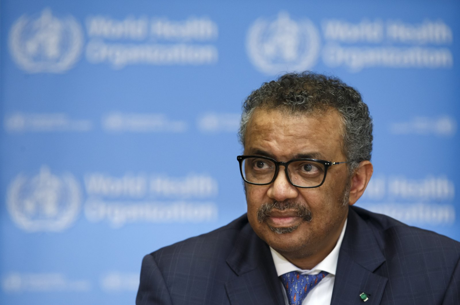 Tedros Adhanom Ghebreyesus, director-general of the World Health Organization (WHO), informs the media about the update on the situation regarding the COVID-19, during a press conference at the World Health Organization (WHO) headquarters in Geneva, Switzerland, Feb. 17, 2020. (EPA-EFE Photo)