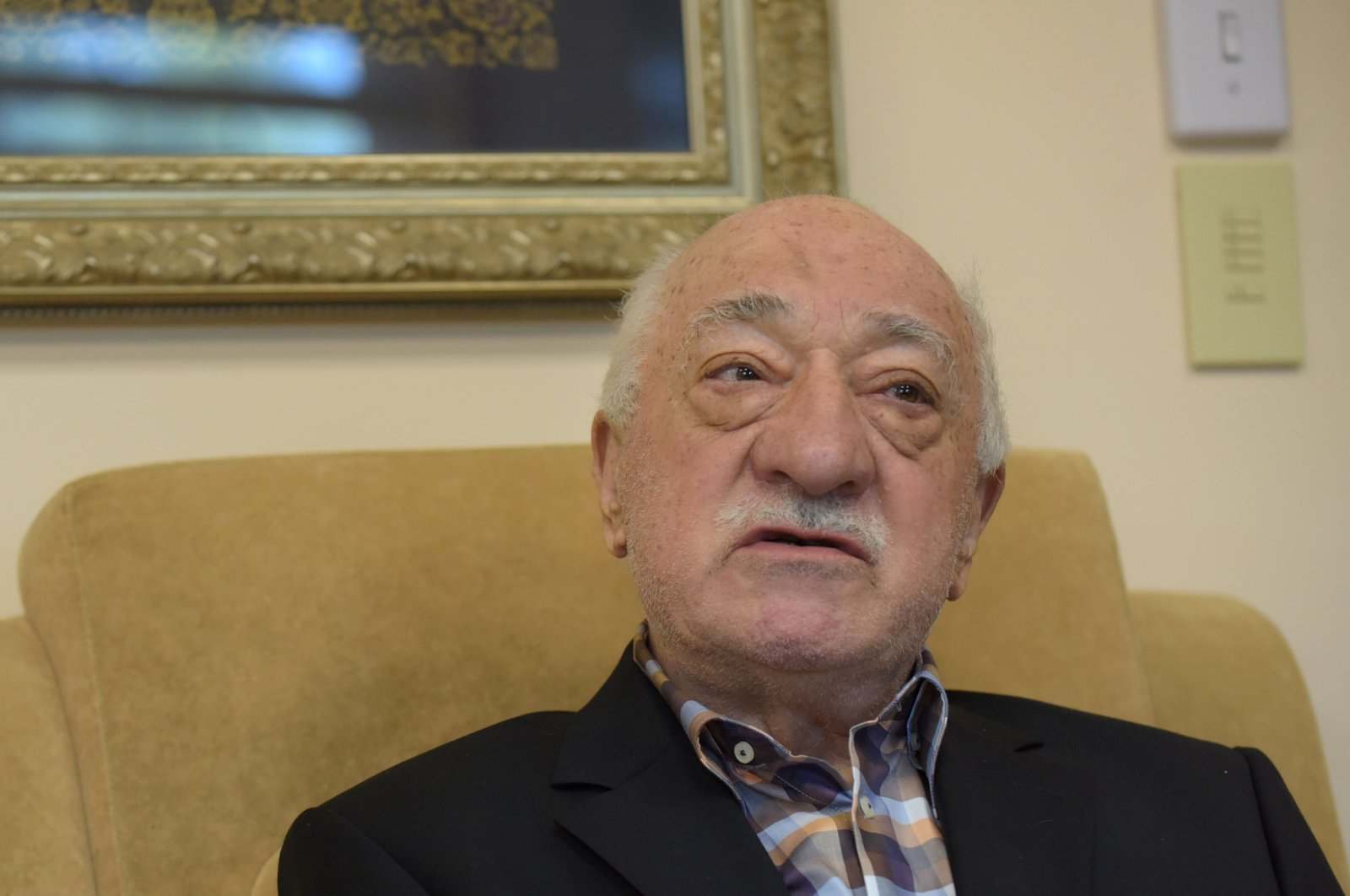 FETÖ leader Fethullah Gülen speaks to members of the media from his home at the Golden Generation Worship and Retreat Center in Saylorsburg, Pennsylvania, U.S., Sept. 22, 2016. (DPA Photo)