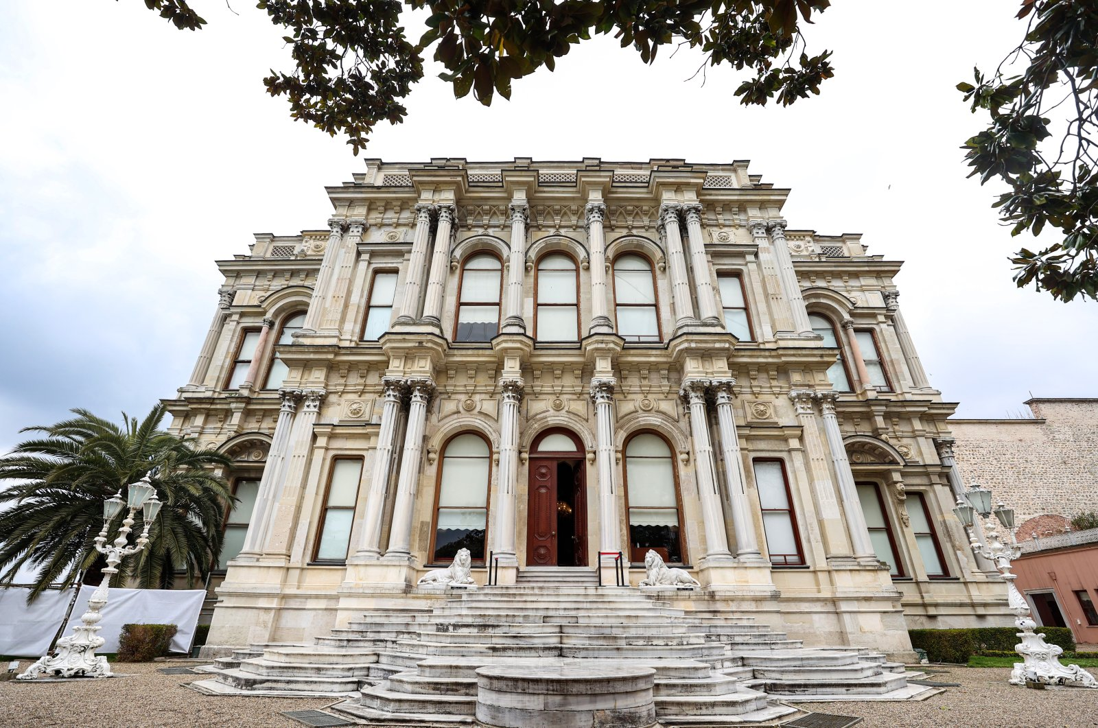 An exterior view of the Beylerbeyi Palace, Istanbul, Turkey, April 16, 2021. (AA Photo)