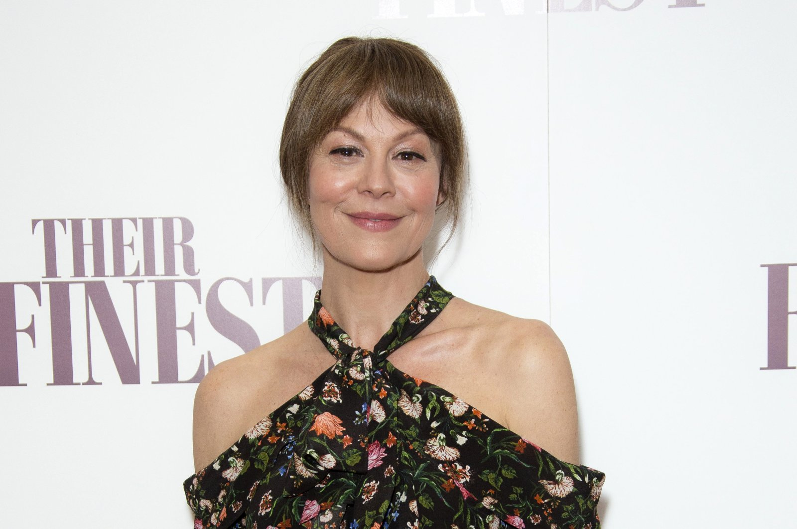 "Actress Helen McCrory poses for photographers at a special screening of the film, ""Their Finest"", at the BFI in central London, U.K., April 12, 2017. (AP Photo)"