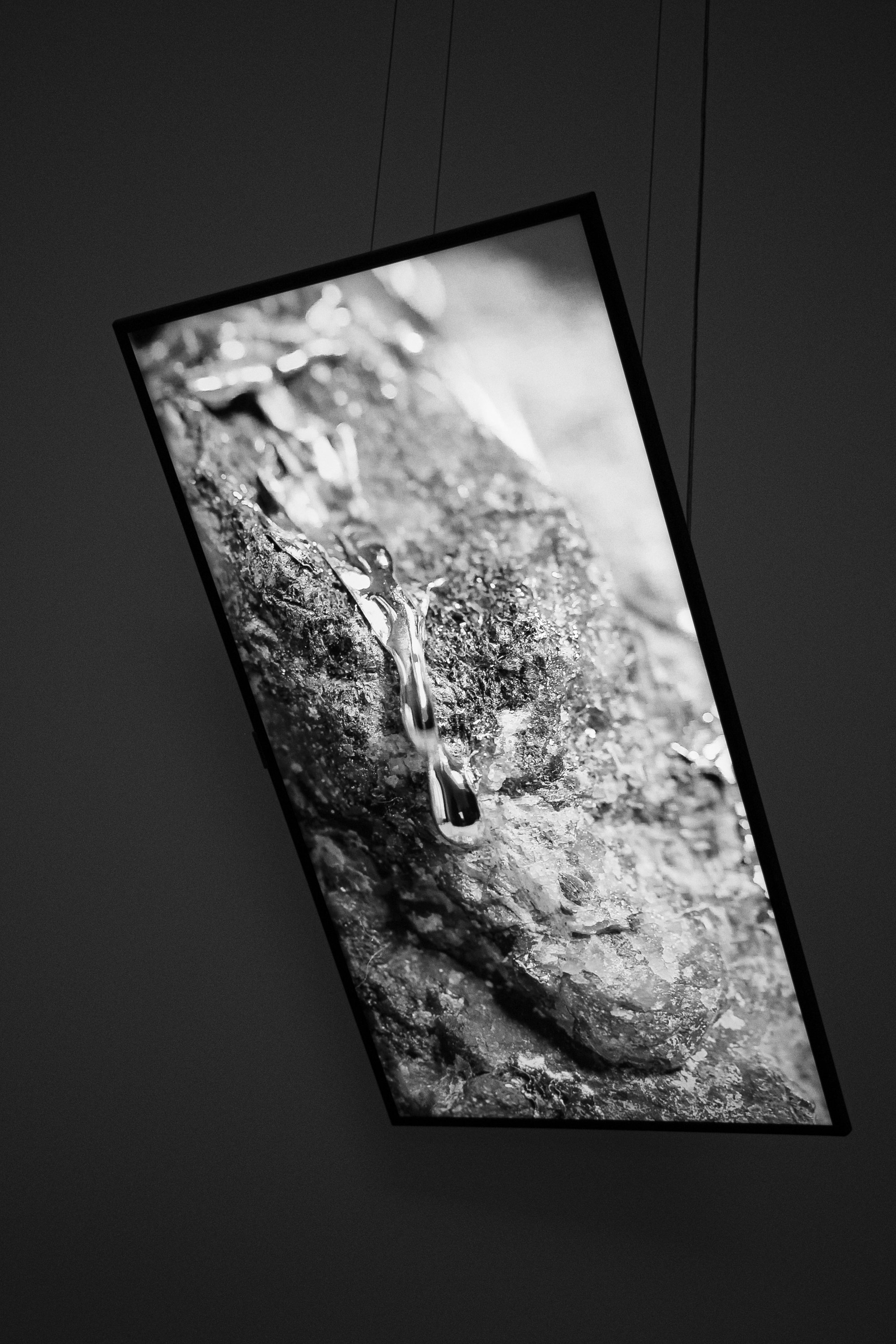 """Yelta Köm, """"Possibilistic Grounds,"""" 2021, video installation, LED screen. (Courtesy of Versus Art Project)"""