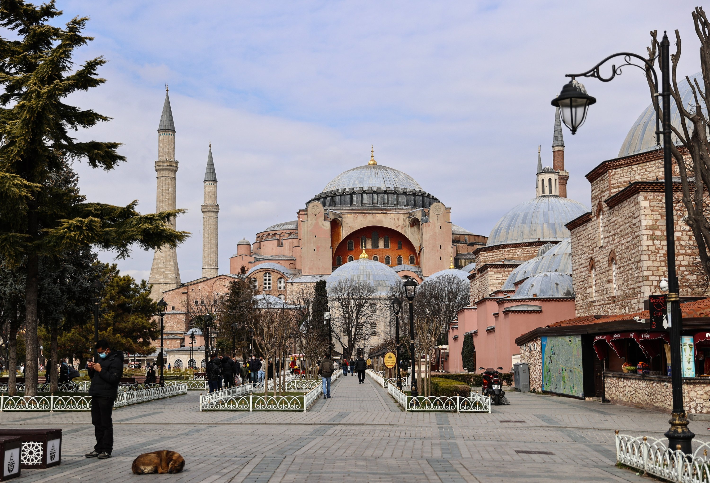 An exterior view of the Hagia Sophia Grand Mosque, Istanbul, Turkey, April 18, 2021. (AA Photo)