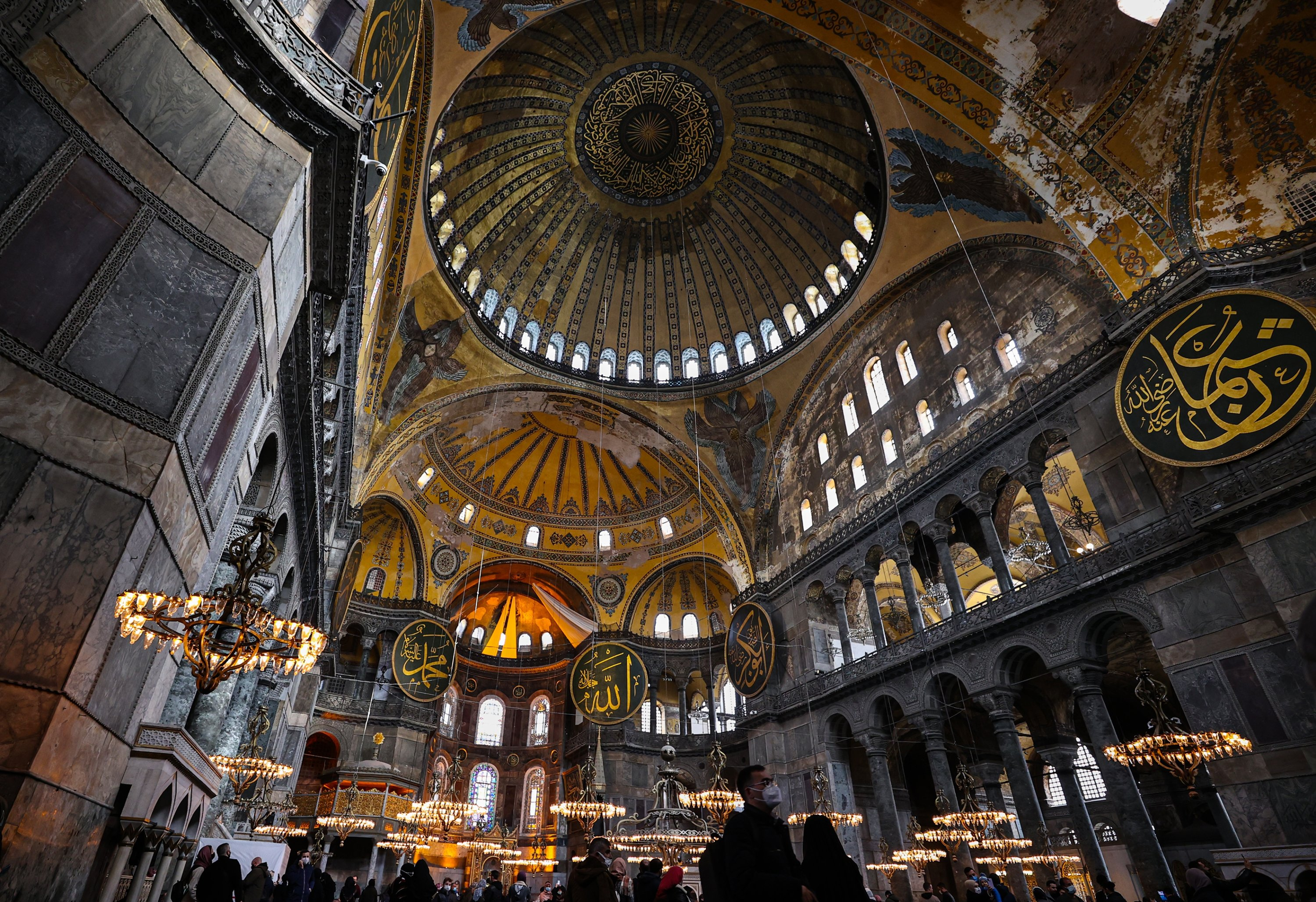 An interior view of the Hagia Sophia Grand Mosque, Istanbul, Turkey, April 18, 2021. (AA Photo)