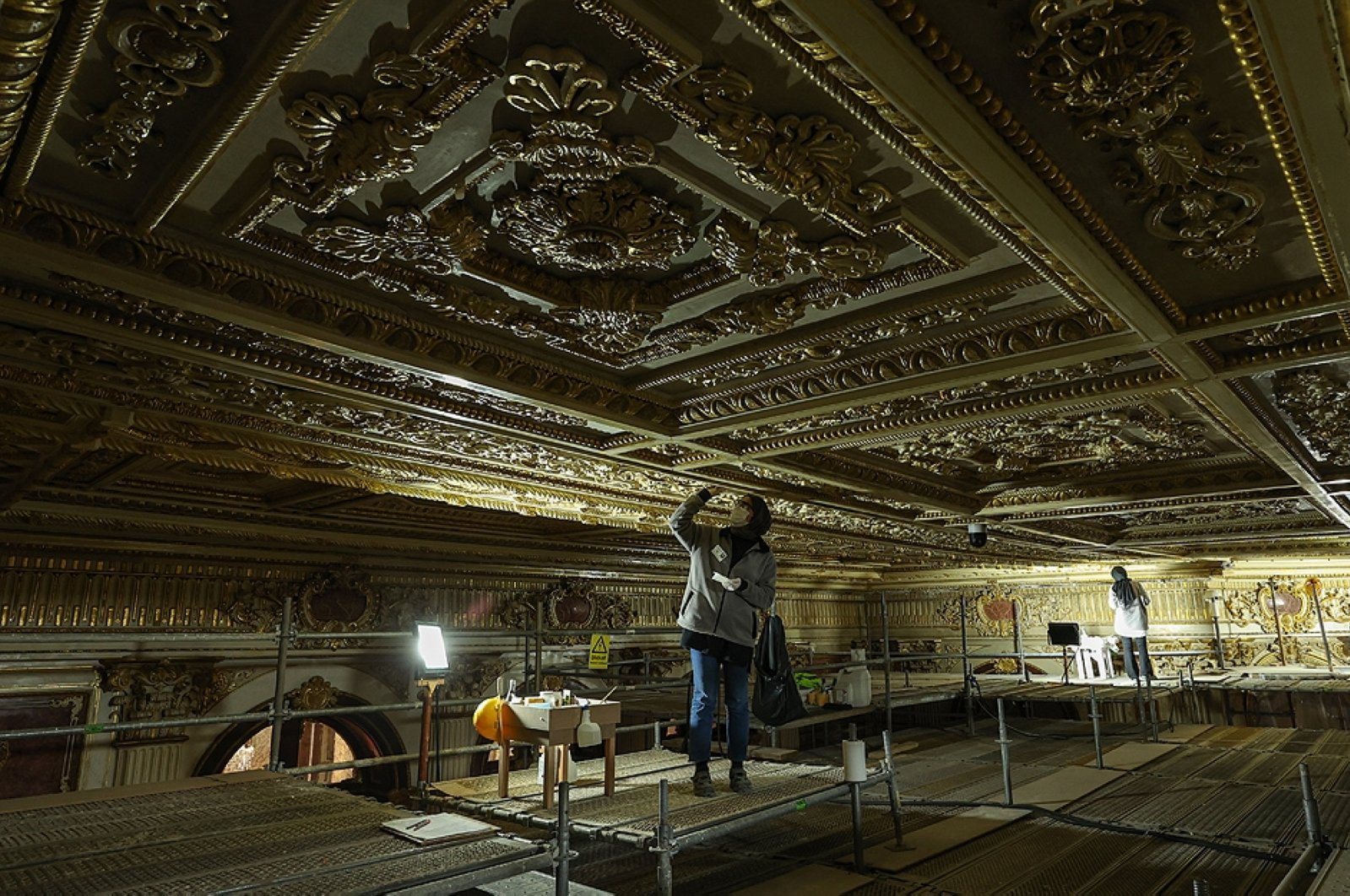 Süfera Hall at Istanbul's Dolmabahçe Palace regains former glory