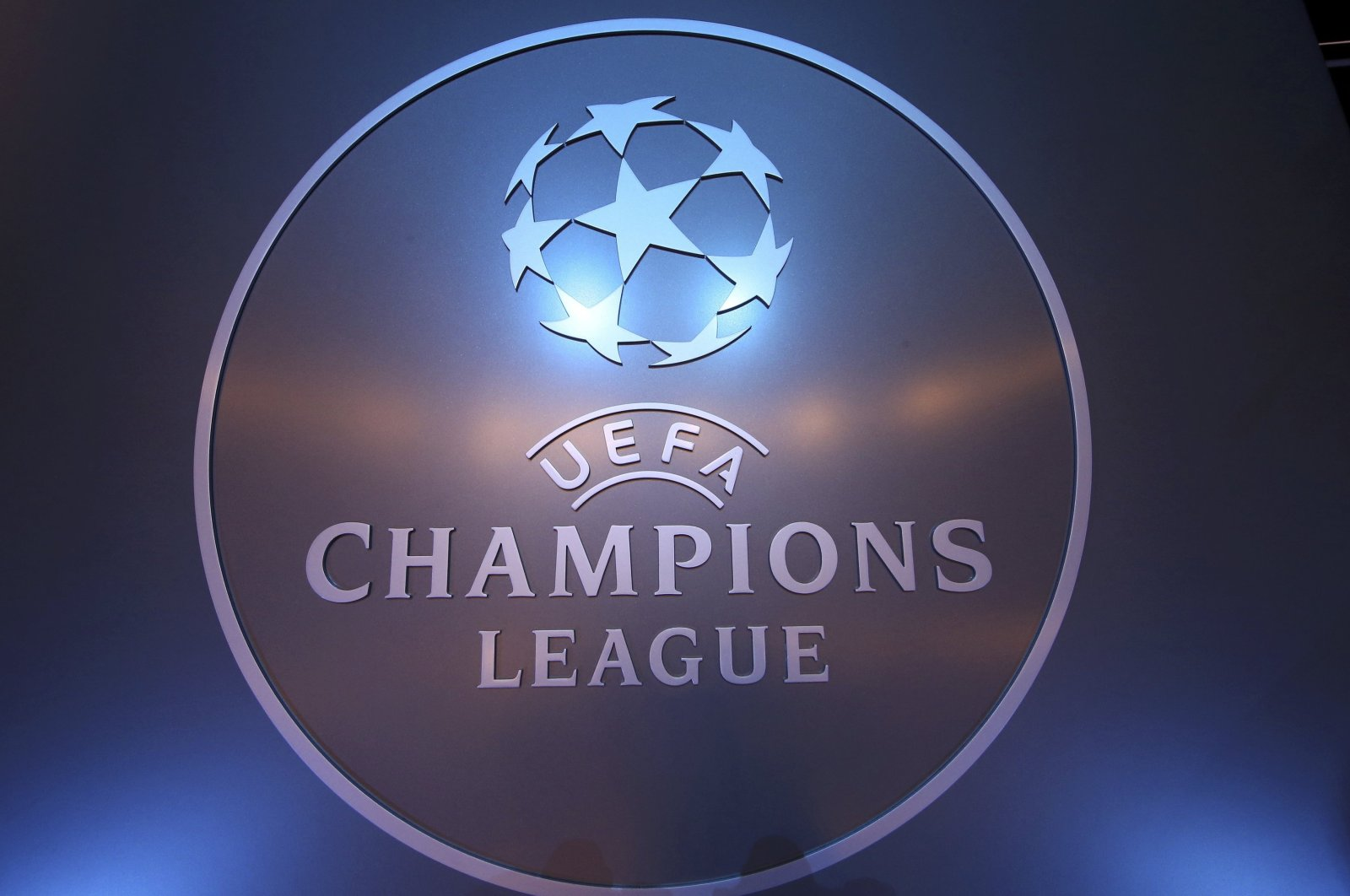 The UEFA logo is seen before the draw ceremony for the 2016/2017 Champions League Cup soccer competition at Monaco's Grimaldi Forum in Monaco Aug. 25, 2016. (Reuters File Photo)