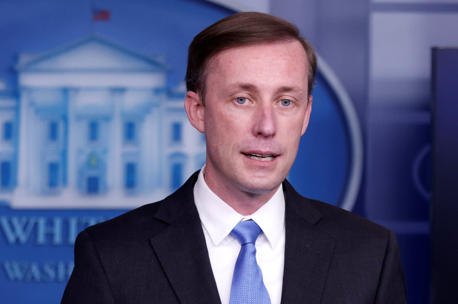White House National Security Advisor Jake Sullivan delivers remarks during a press briefing inside the White House in Washington, U.S., Feb. 4, 2021. (Reuters Photo)