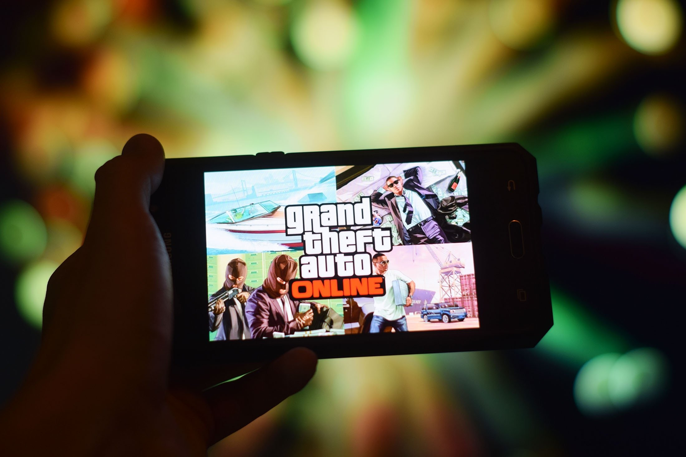 A close-up of Grand Theft Auto Online on a smartphone display, Kuala Lumpur, Malaysia, Dec. 25. 2019. (Shutterstock Photo)