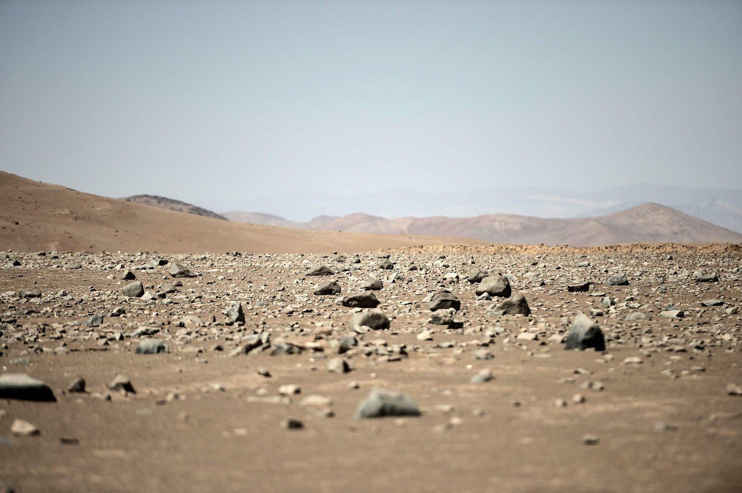 Some 80 kilometers south of Antofagasta, rocks lay in Yungay, Atacama Desert, Chile, March 7, 2017. (AFP Photo)