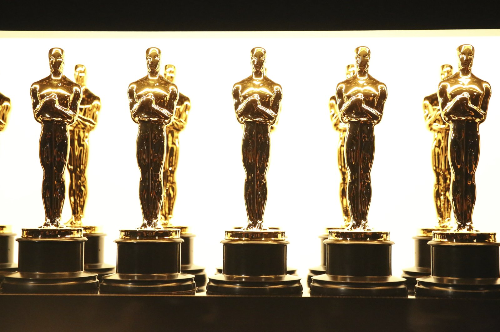 Oscar statuettes appear backstage at the Oscars in Los Angeles, U.S., Feb. 26, 2017. (AP Photo)