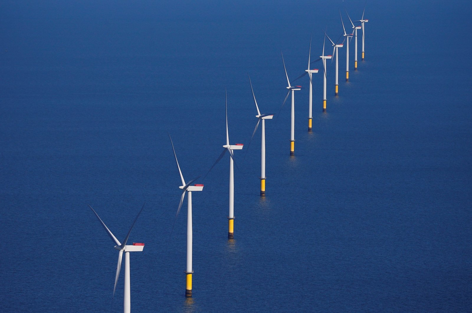 General view of the Walney Extension offshore wind farm operated by Orsted off the coast of Blackpool, Britain, Sept. 5, 2018. (Reuters Photo)