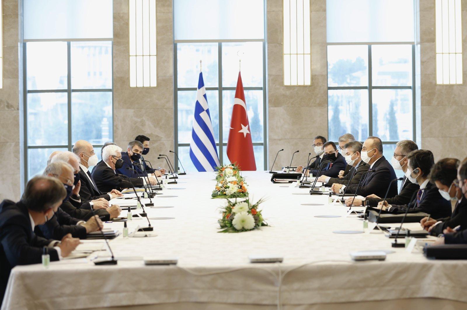 Turkish and Greek delegations meet in the capital Ankara, Turkey, April 15, 2021. (AA Photo)