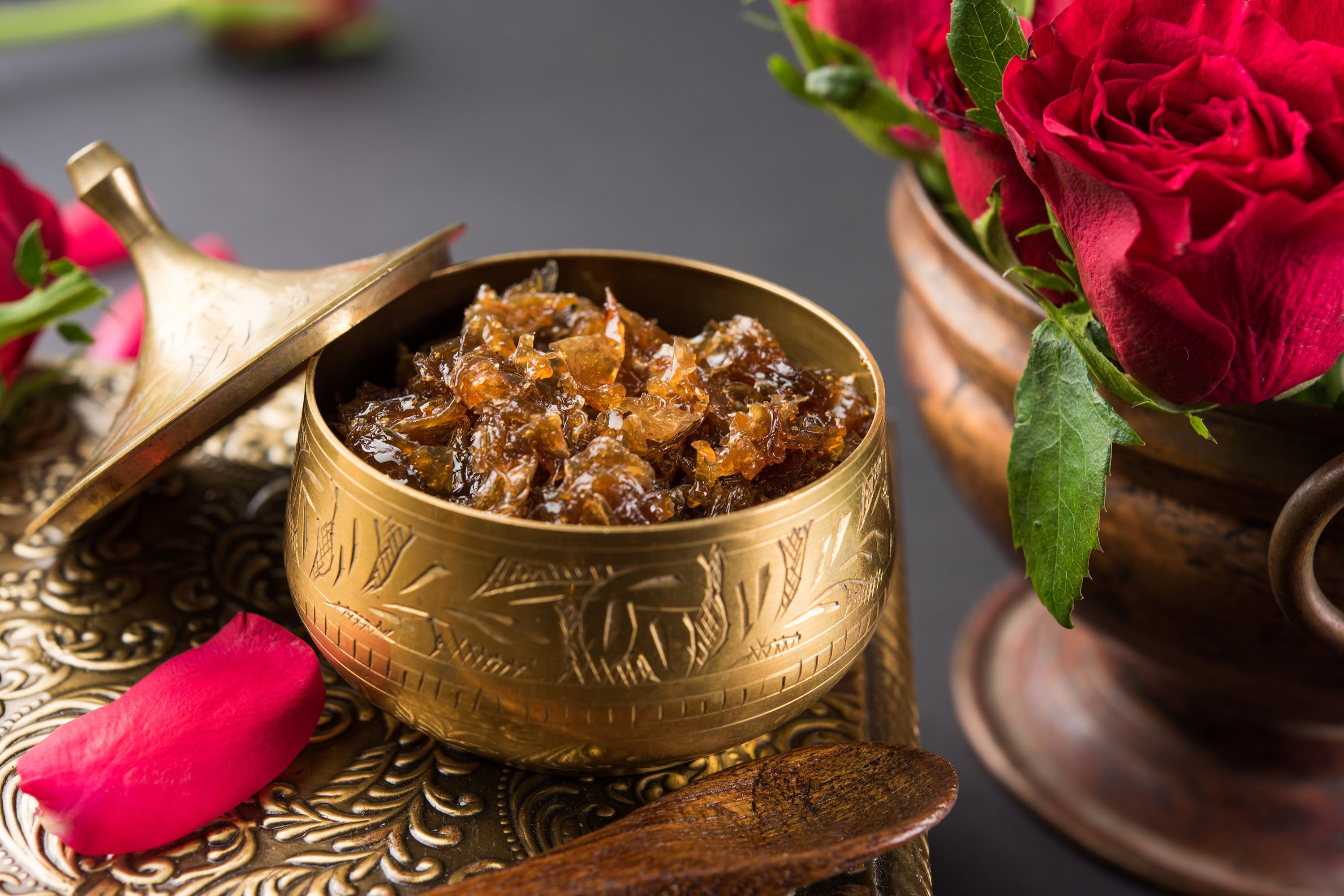 Gulkand is a type of jam made from rose petals, and it gives an interesting flavor to chai. (Shutterstock Photo)