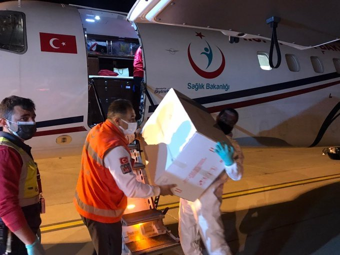 Turkey sends 40,000 more COVID-19 vaccine doses to Turkish Cyprus, Lefkosia, Turkish Republic of Northern Cyprus, April 20, 2021. (DHA Photo)