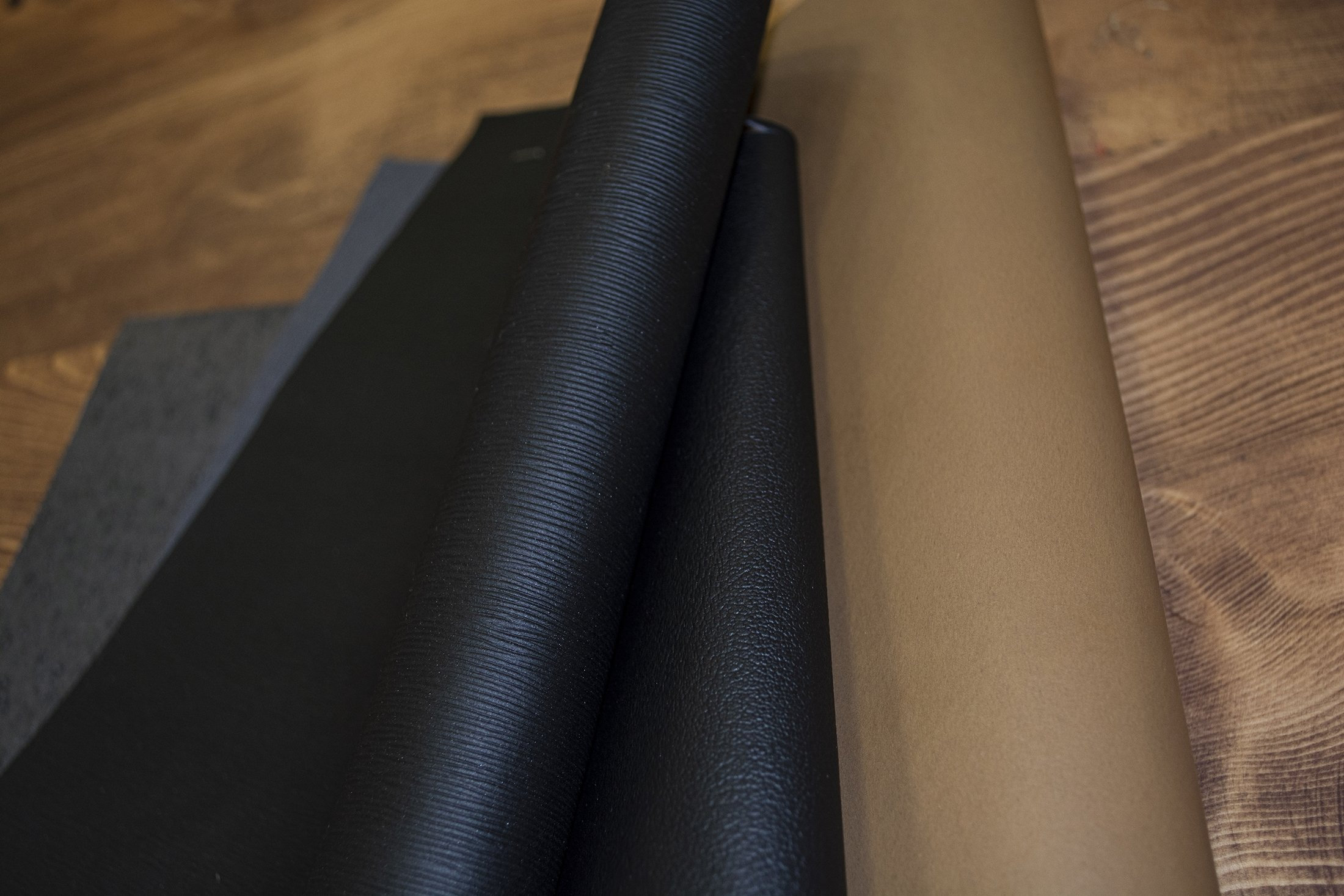 Oleatex leather looks exactly like high-quality and smooth artificial or animal-derived leather. (Courtesy of Oleago)