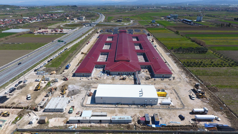 The Turkey-Albania Fier Regional Hospital, Albania, April 7, 2021. (IHA Photo)