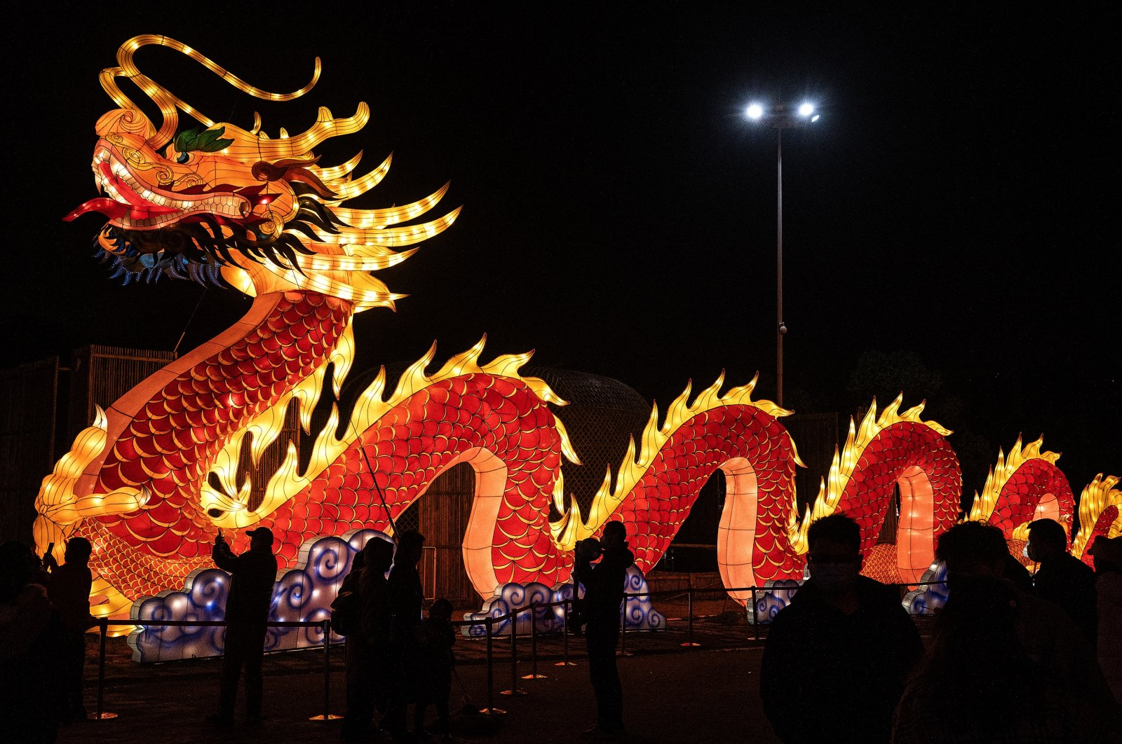 Residents visiting a dragon lantern during a festival show in Wuhan, Hubei province, China, Feb. 26, 2021. (Photo by Getty Images)