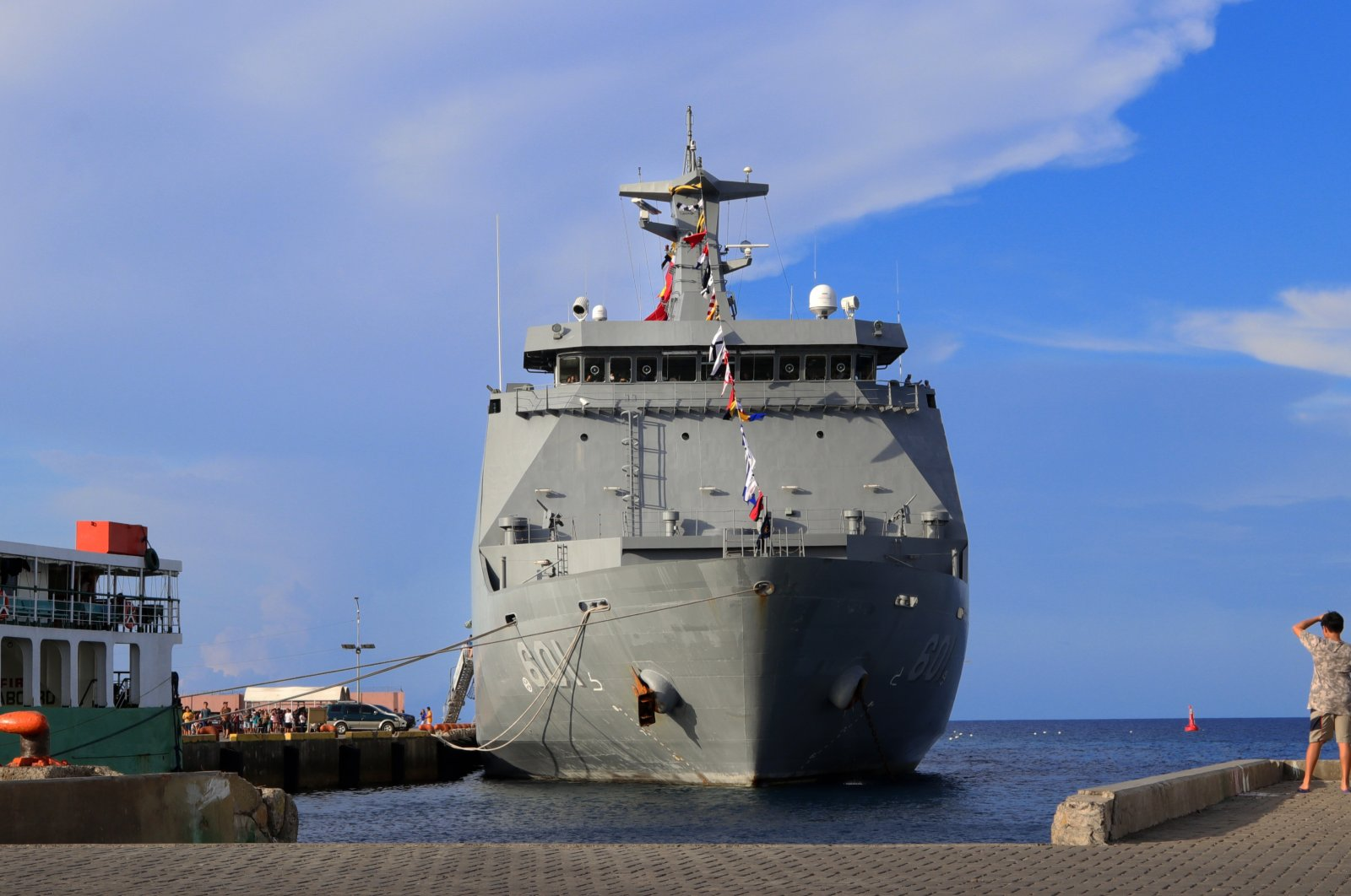 The Philippine navy's BRP Tarlac (LD-601) docked during Independence Day celebrations at the port of Dumaguete City, Negros Oriental, Philippines, June 13, 2019. (Shutterstock Photo)