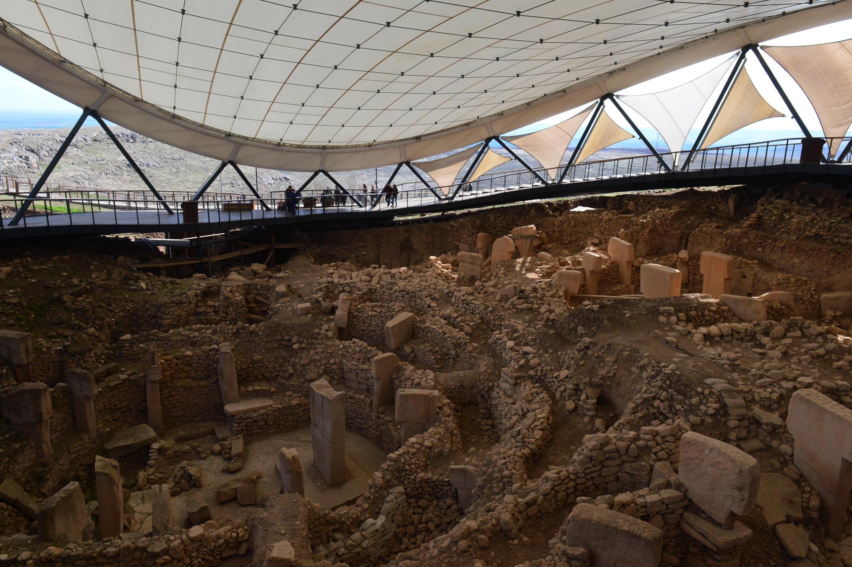 Visitors at the site of Göbeklitepe, Şanlıurfa, southeastern Turkey, April 21, 2021. (AA Photo)