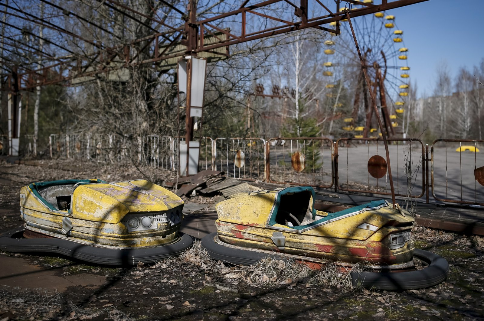 A view of an amusement park in the center of the abandoned town of Pripyat near the Chernobyl Nuclear Power Plant, Ukraine, March 28, 2016. (Reuters Photo)