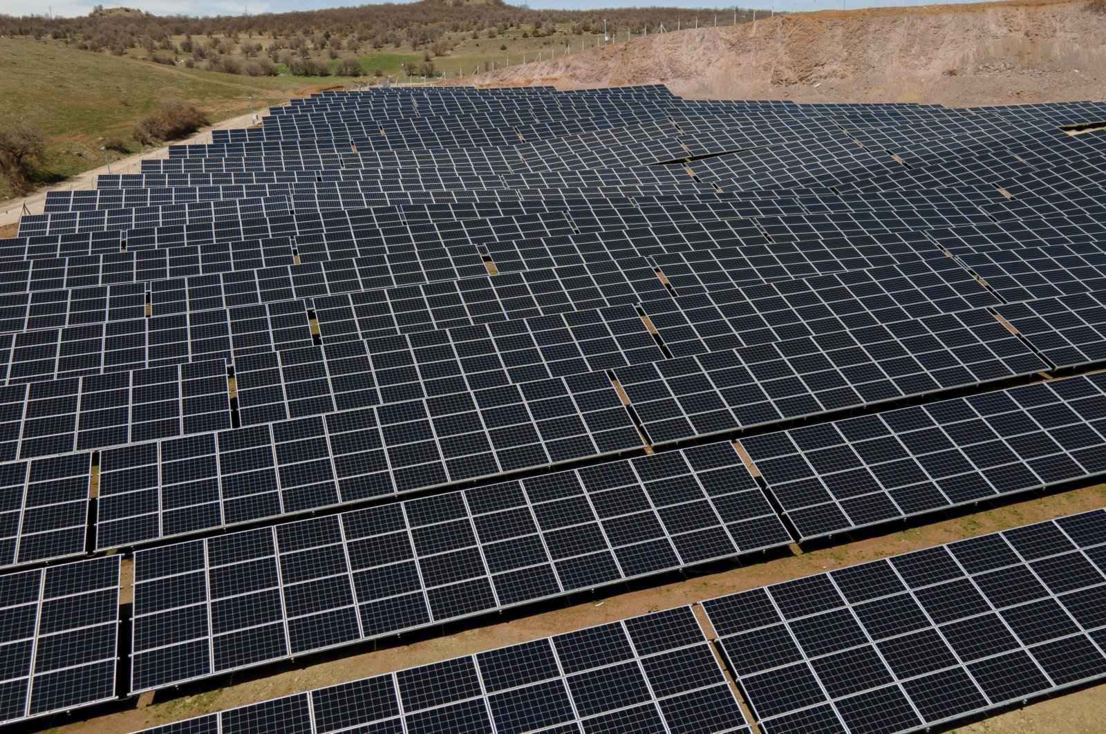 Solar panels are seen in the northern province of Giresun, Turkey, April 22, 2021. (AA Photo)