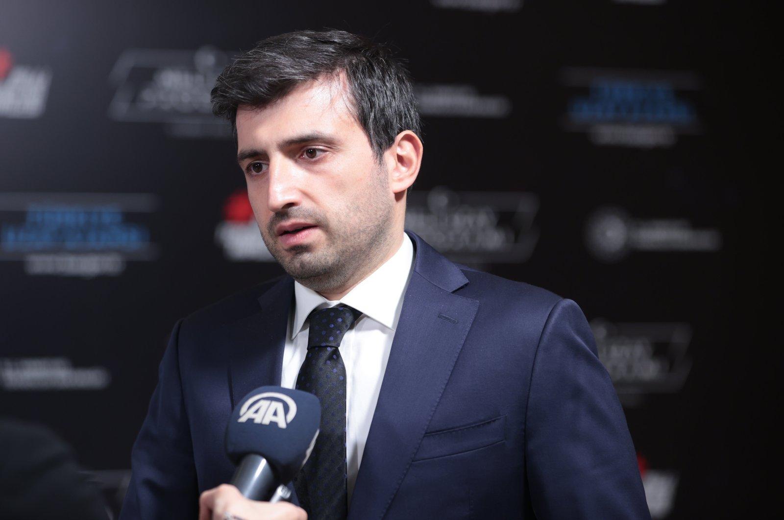 Baykar CTO Selçuk Bayraktar speaks to Anadolu Agency (AA) in Ankara, Turkey, Feb 11, 2021. (AA Photo)