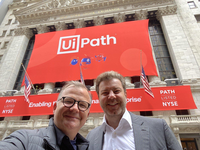 Earlybird Venture Capital's Cem Sertoğlu (L) stands next to UiPath co-founder Daniel Dines. (Courtesy of Earlybird VC)