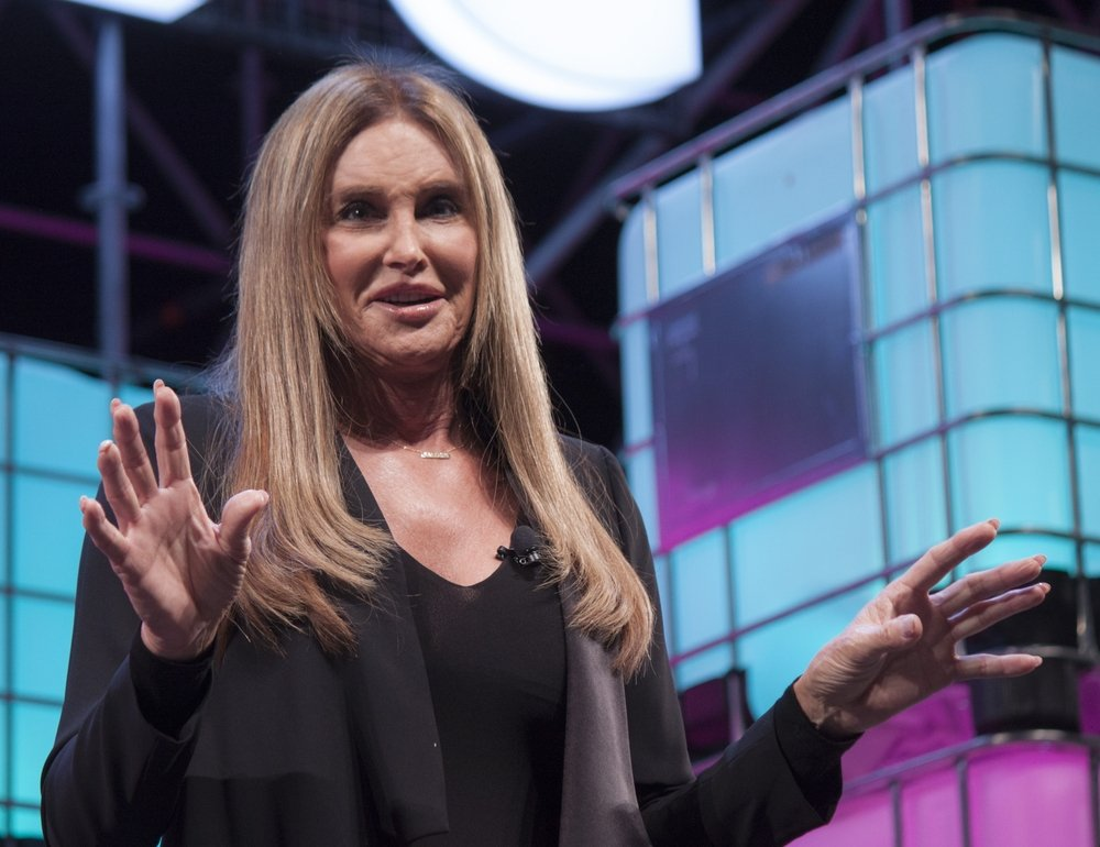 American television personality and LGBT spokesperson, Caitlyn Jenner, speaks onstage at the Web Summit in Lisbon about her life and her transgender journey, Lisbon, Portugal, Nov. 17, 2021. (Shutterstock Photo)